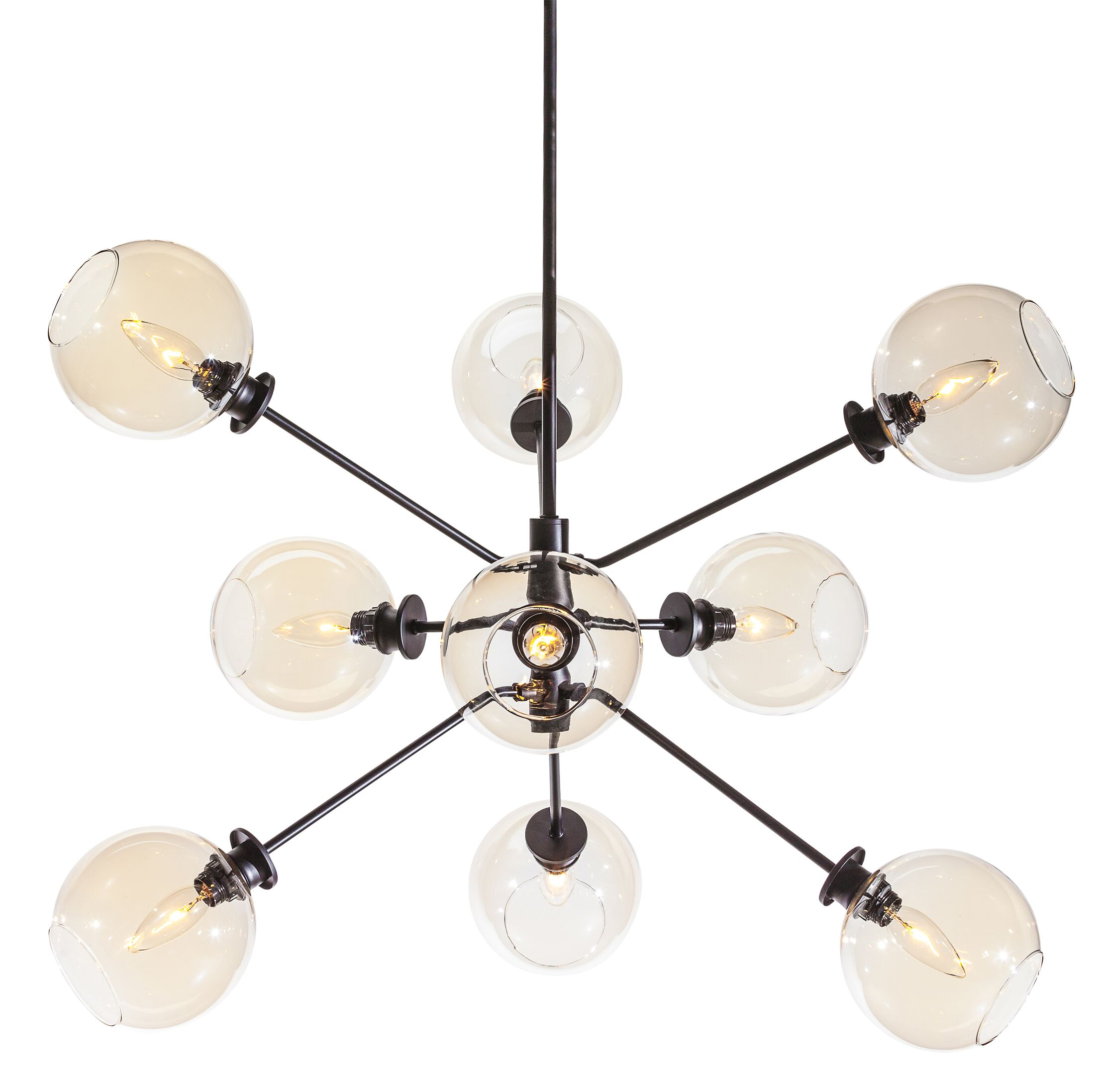 Atom 9-Light Sputnik Chandelier Shade Color: Champagne