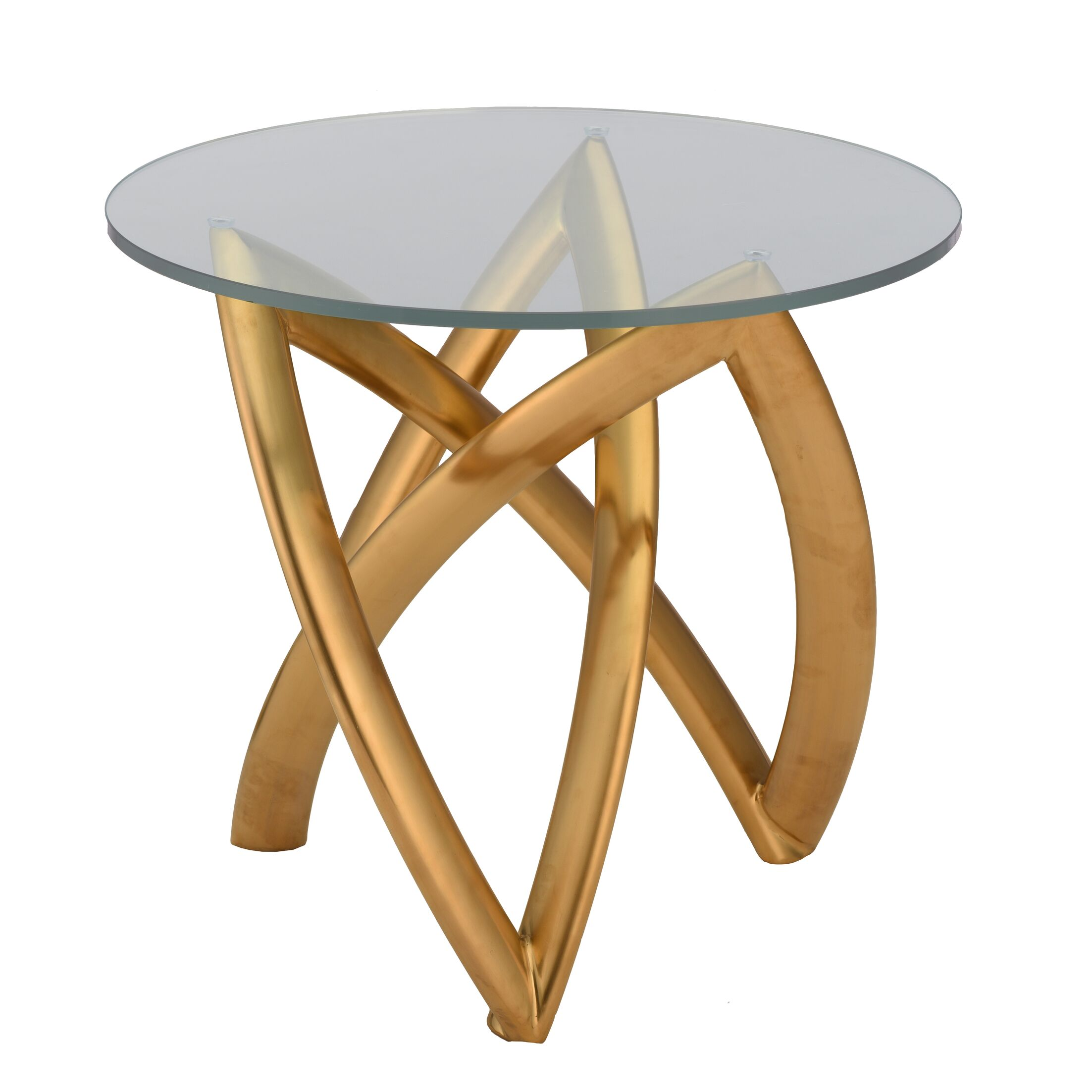 Jaryd End Table Table Base Color: Brushed Gold