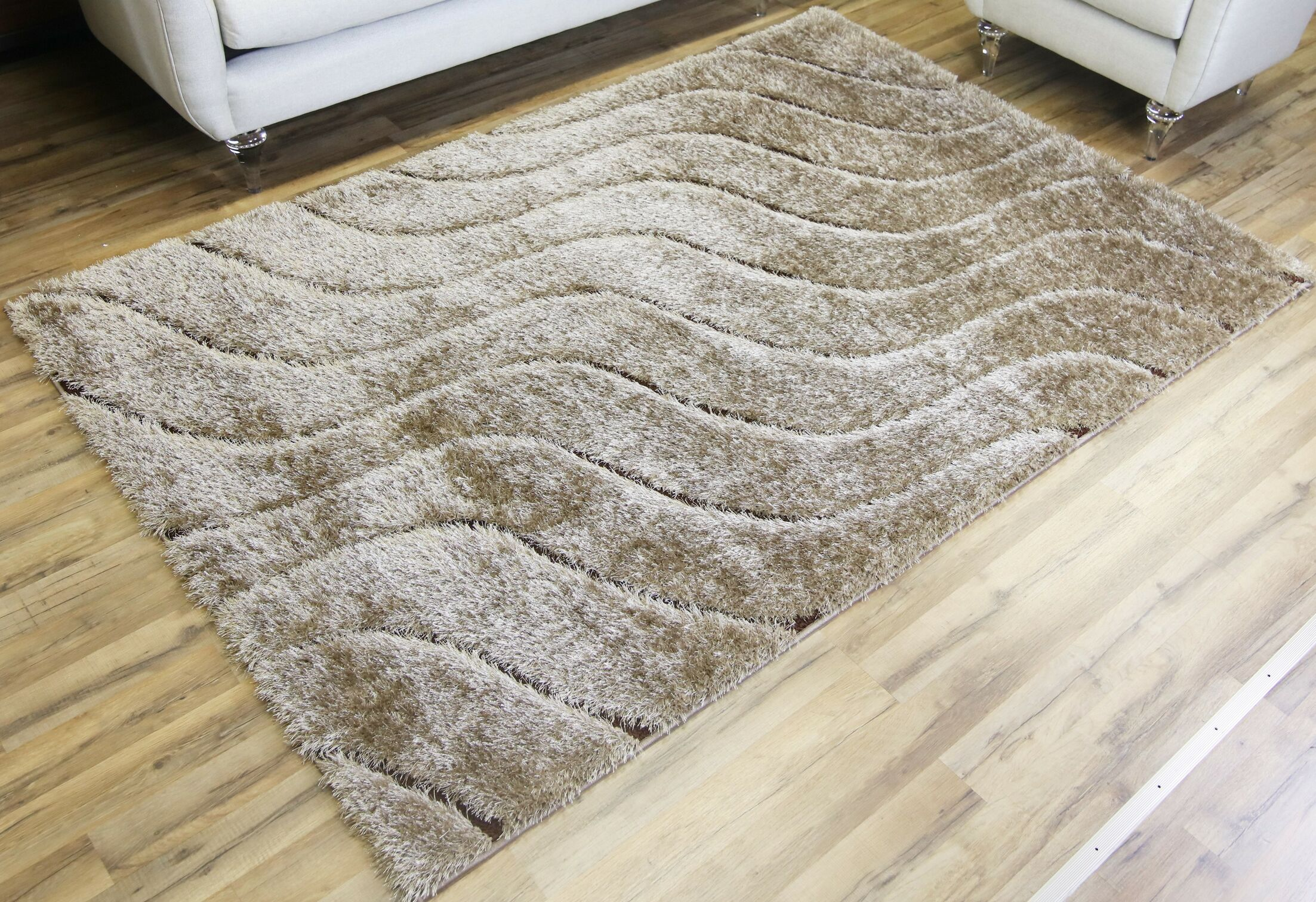 Unique Home Beige Area Rug Rug Size: 5'3