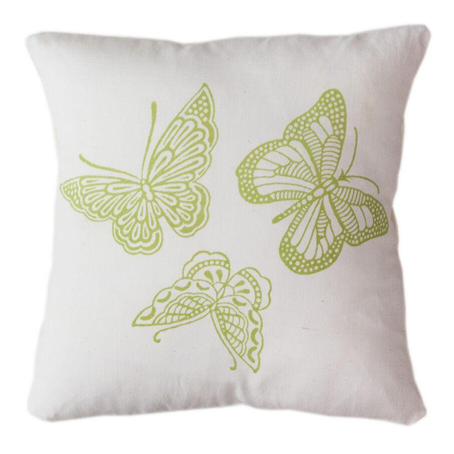 Butterflies Indoor/Outdoor Throw Pillow Size: 12