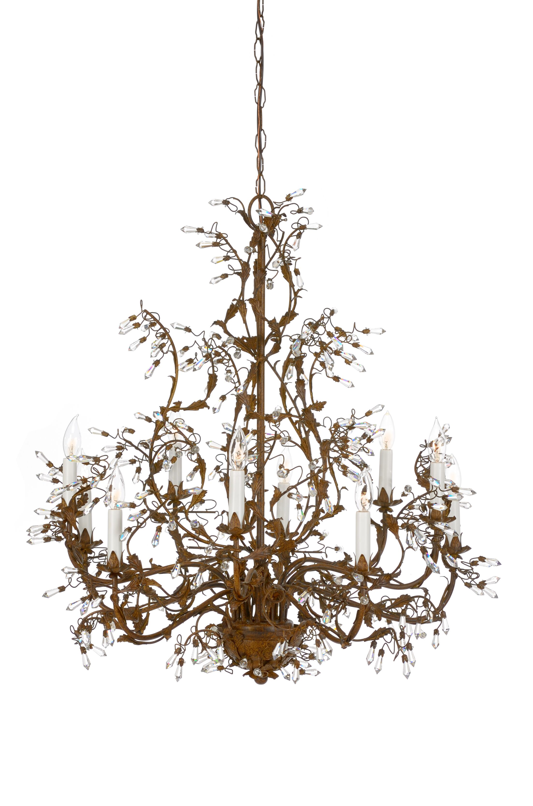 Buds 10-Light Candle Style Chandelier