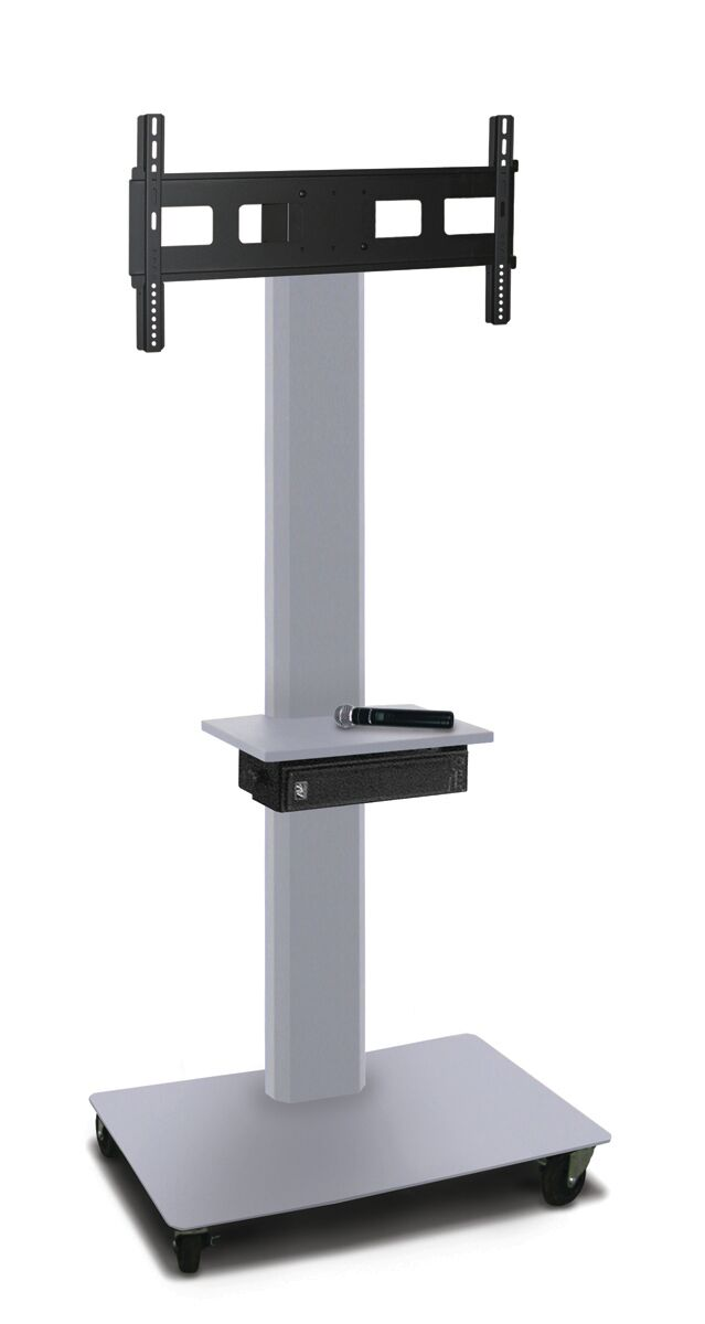 Vizion TV Floor Stand Mount Plasma Finish: Silver