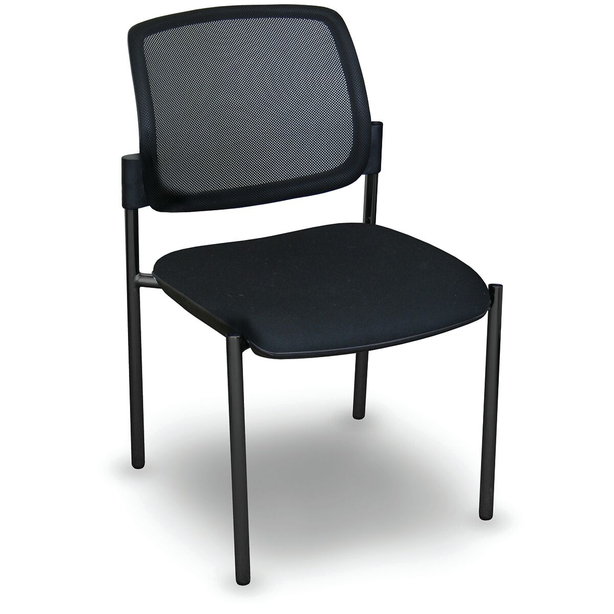 Fermata� Mesh Stackable Visitor Guest Chair Finish: Black