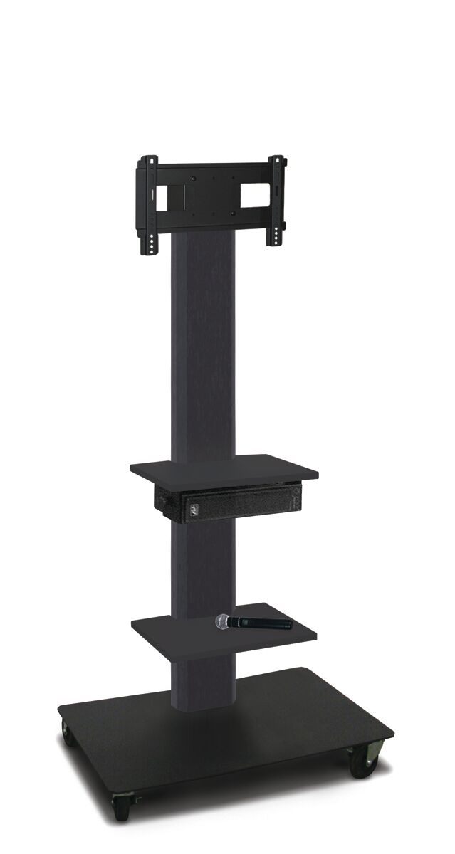 The Vizion TV Floor Stand Mount Plasma with a height adjustable bracket, built in cable management steel construction is ideal for commercial use! This 65