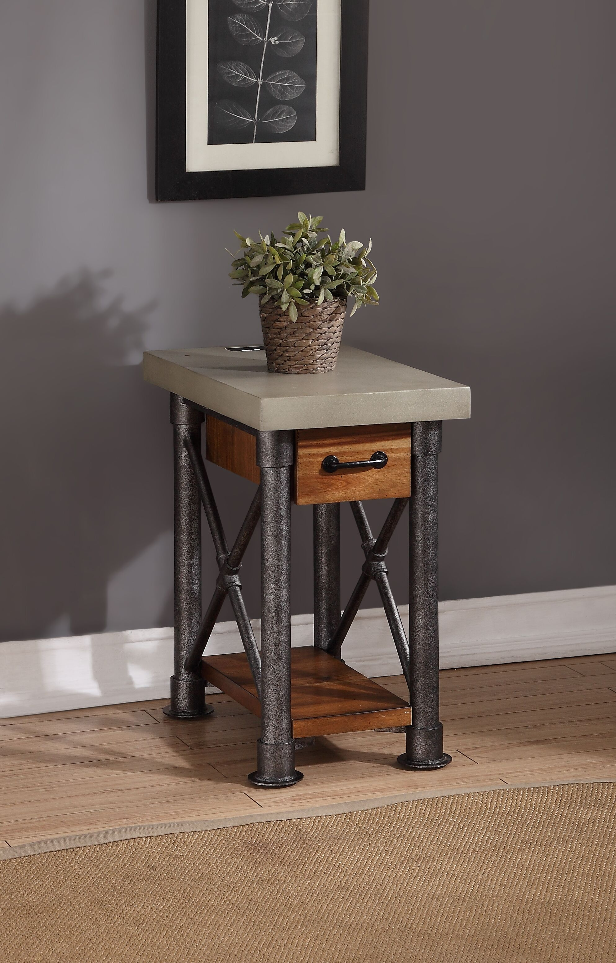 Perei Drawer End Table
