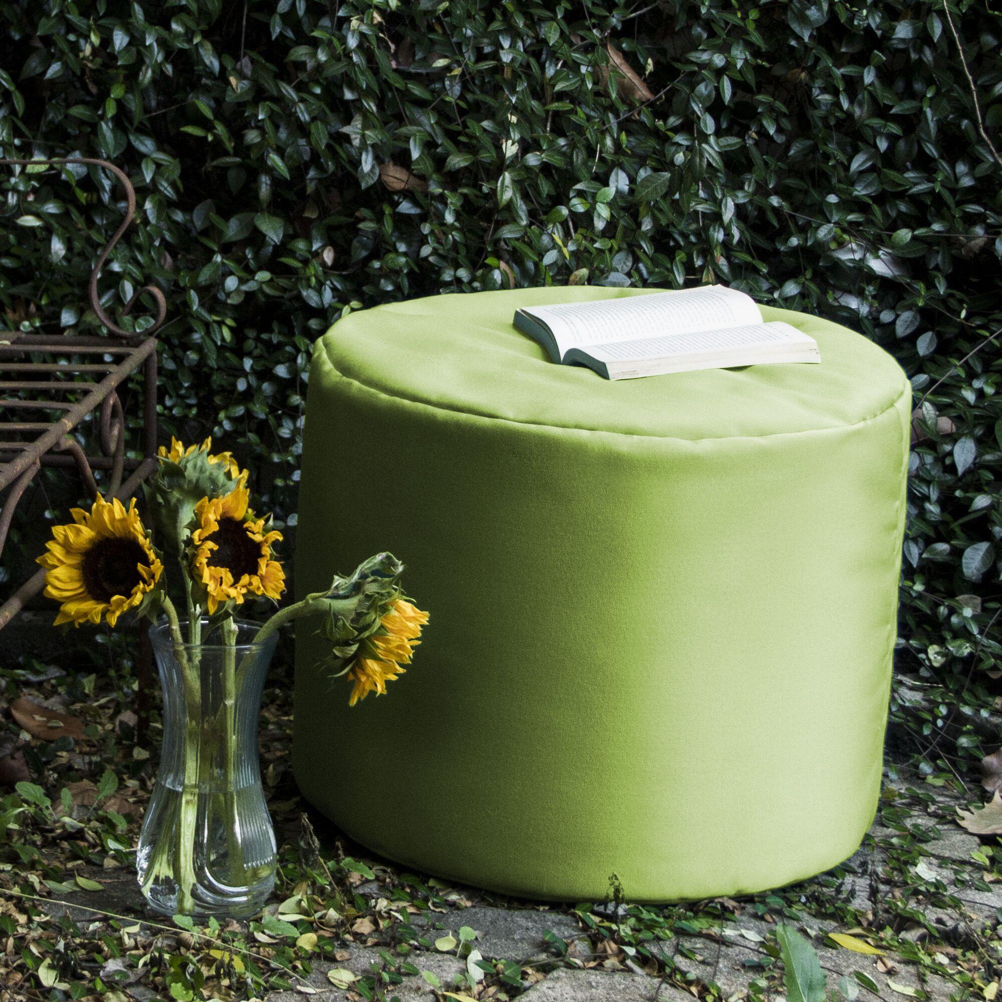 Ayala Outdoor Pouf Ottoman Color: Lime Green