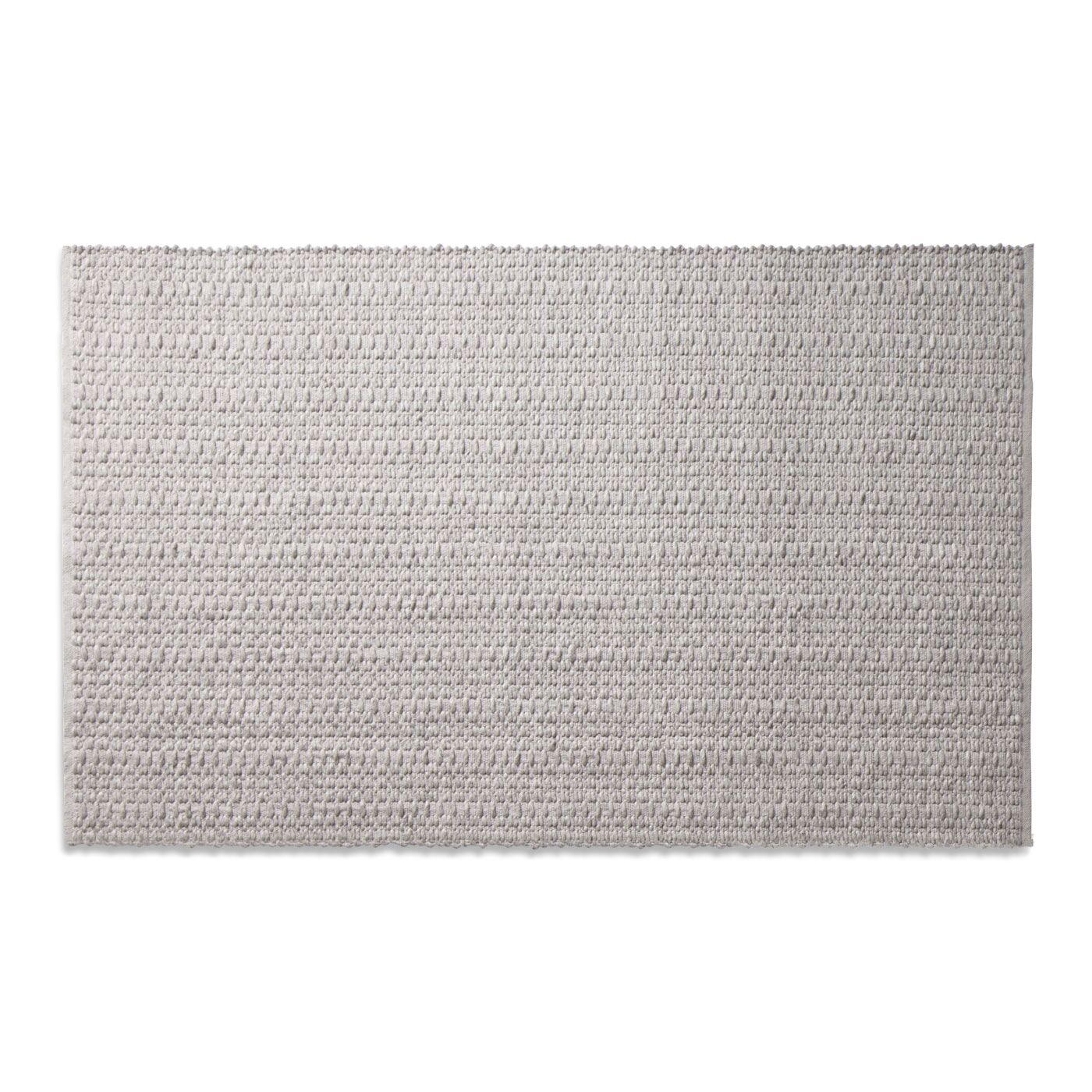 Weft Light Gray / Light Heathered Gray Area Rug Rug Size: 5' x 8'