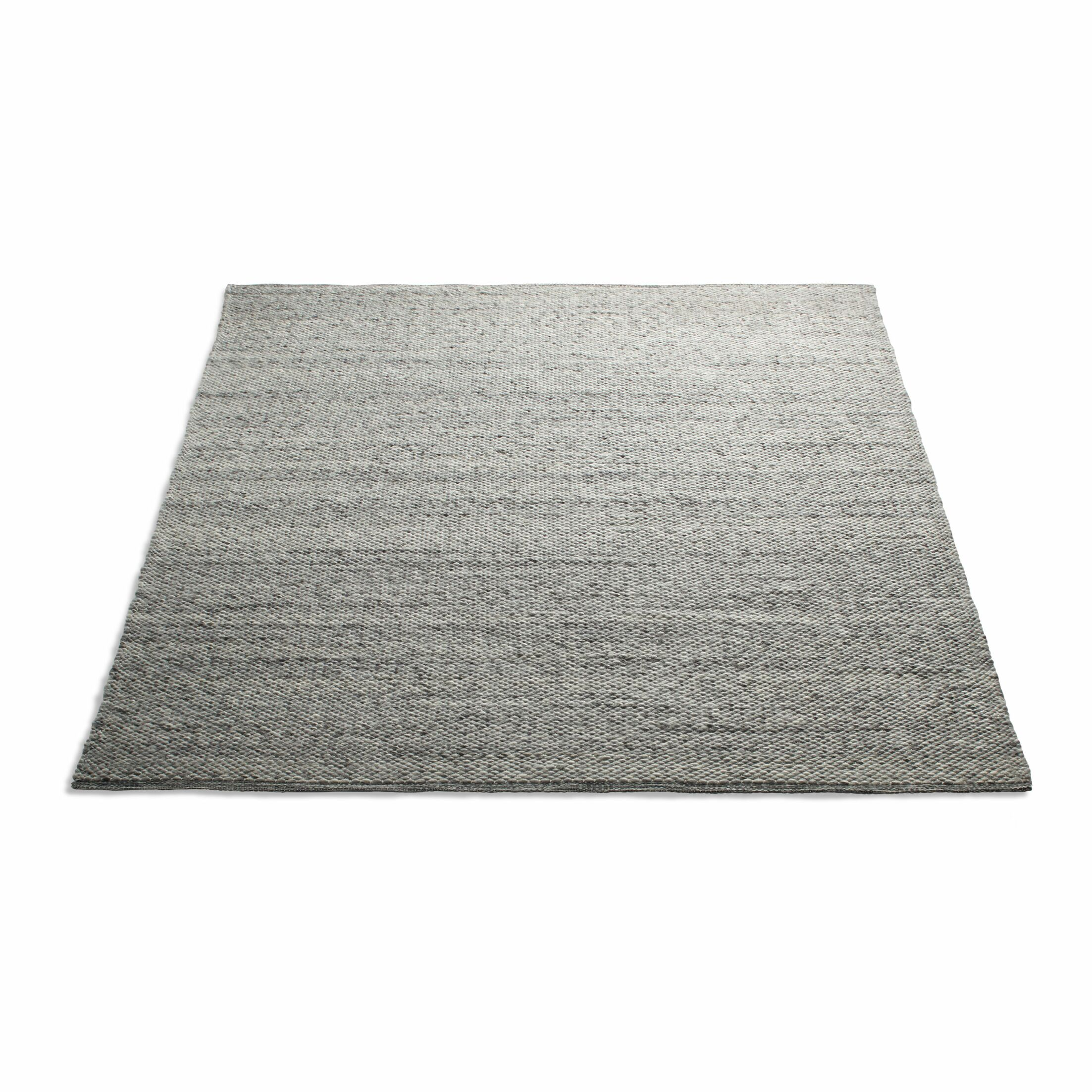 Sinder Hand-Woven Wool Gray Area Rug Rug Size: 8' x 10'