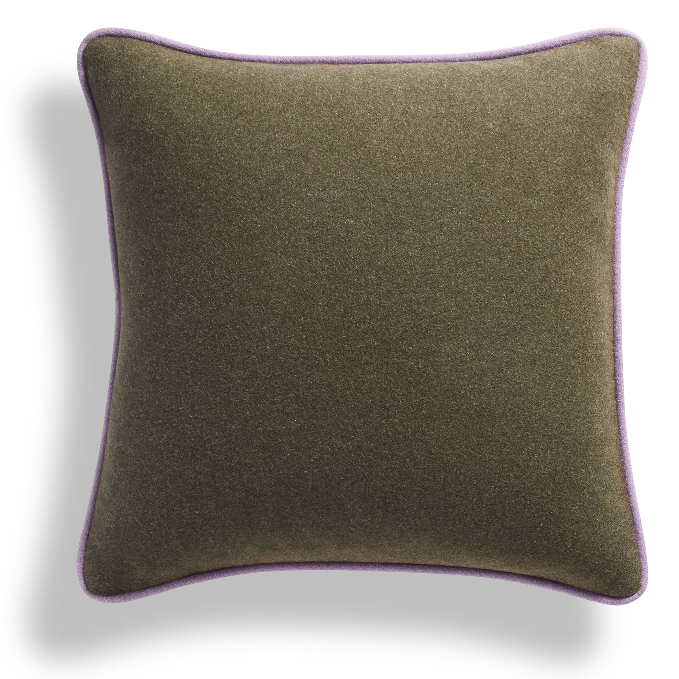 Duck Duck Square Pillow Color: Thurmond Olive/Wheat/Lilac Piping