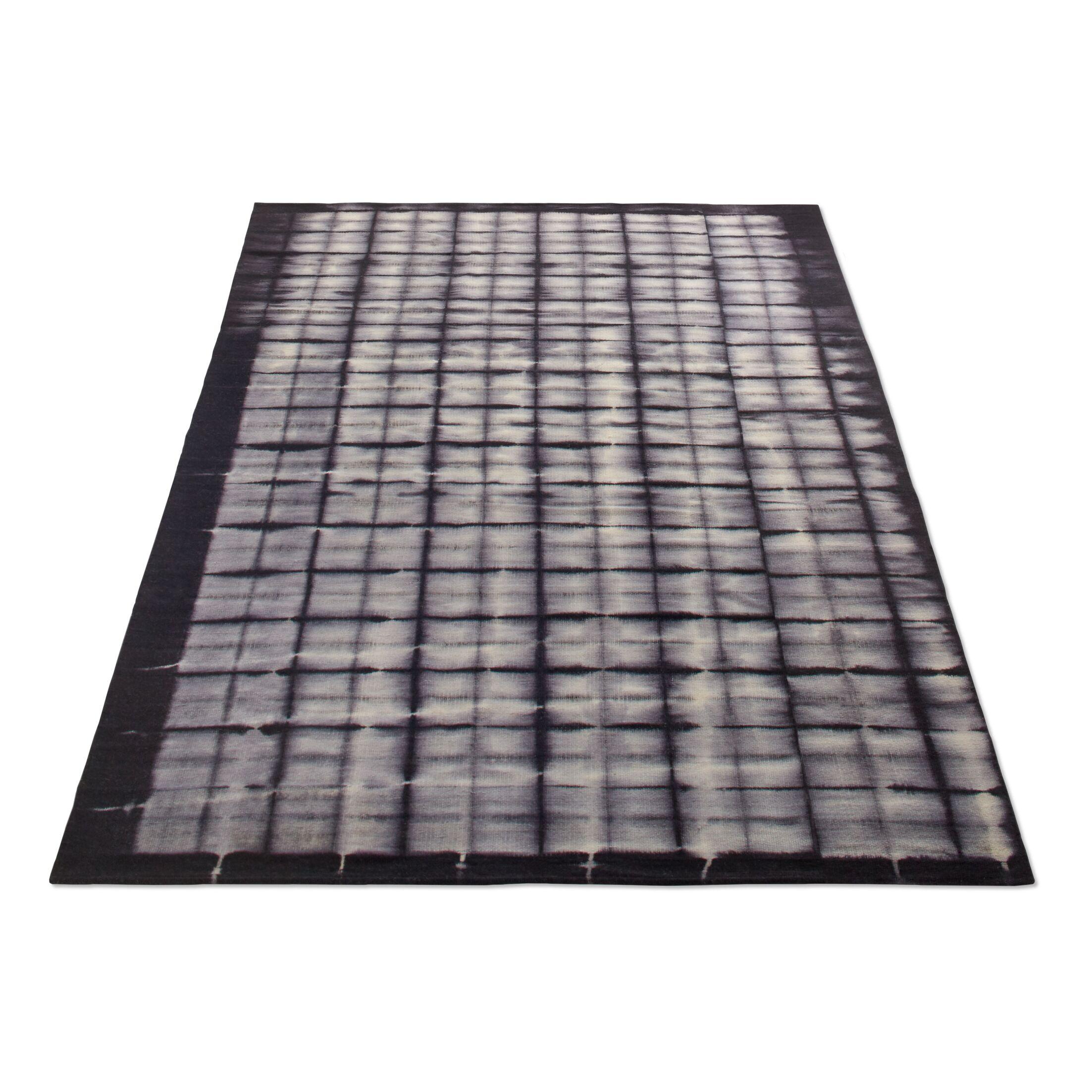 Murl Hand-Woven Wool Black Area Rug Rug Size: 5' x 8'