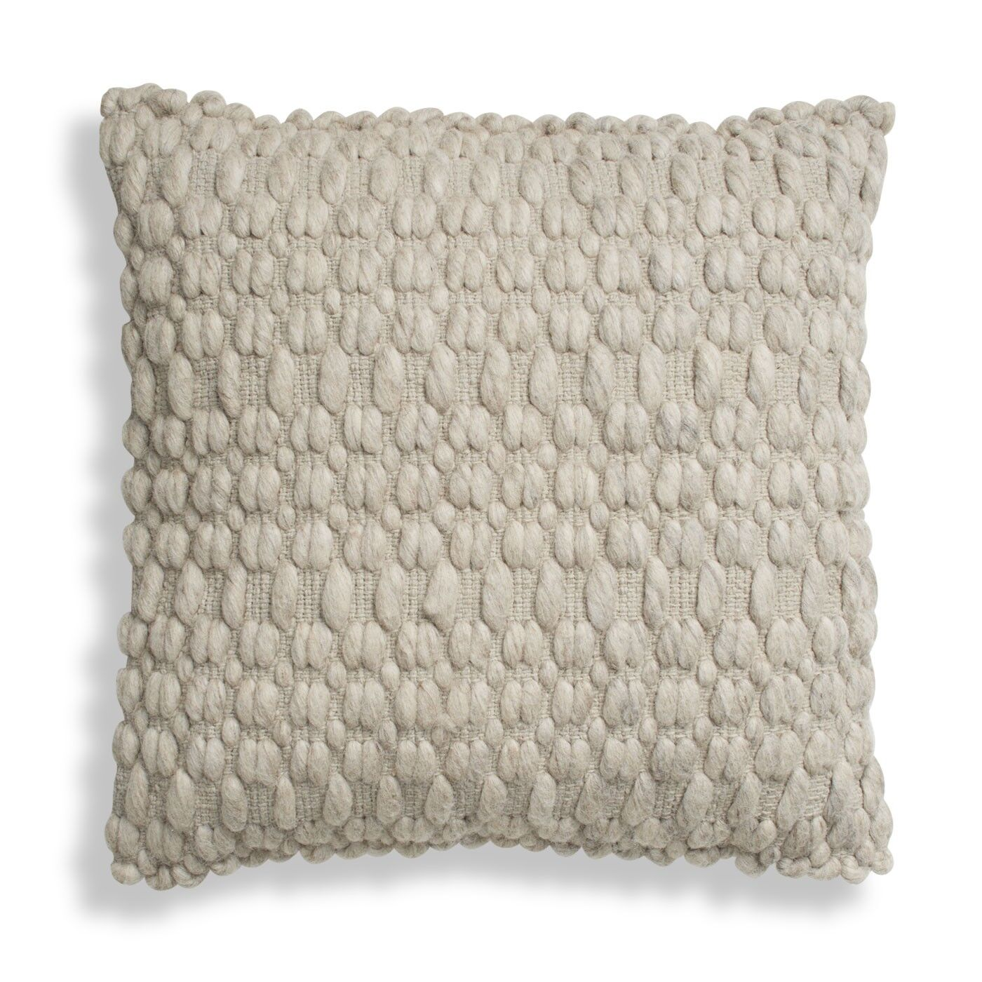 Gam Gam Pillow Color: Light Gray/Heathered Oatmeal