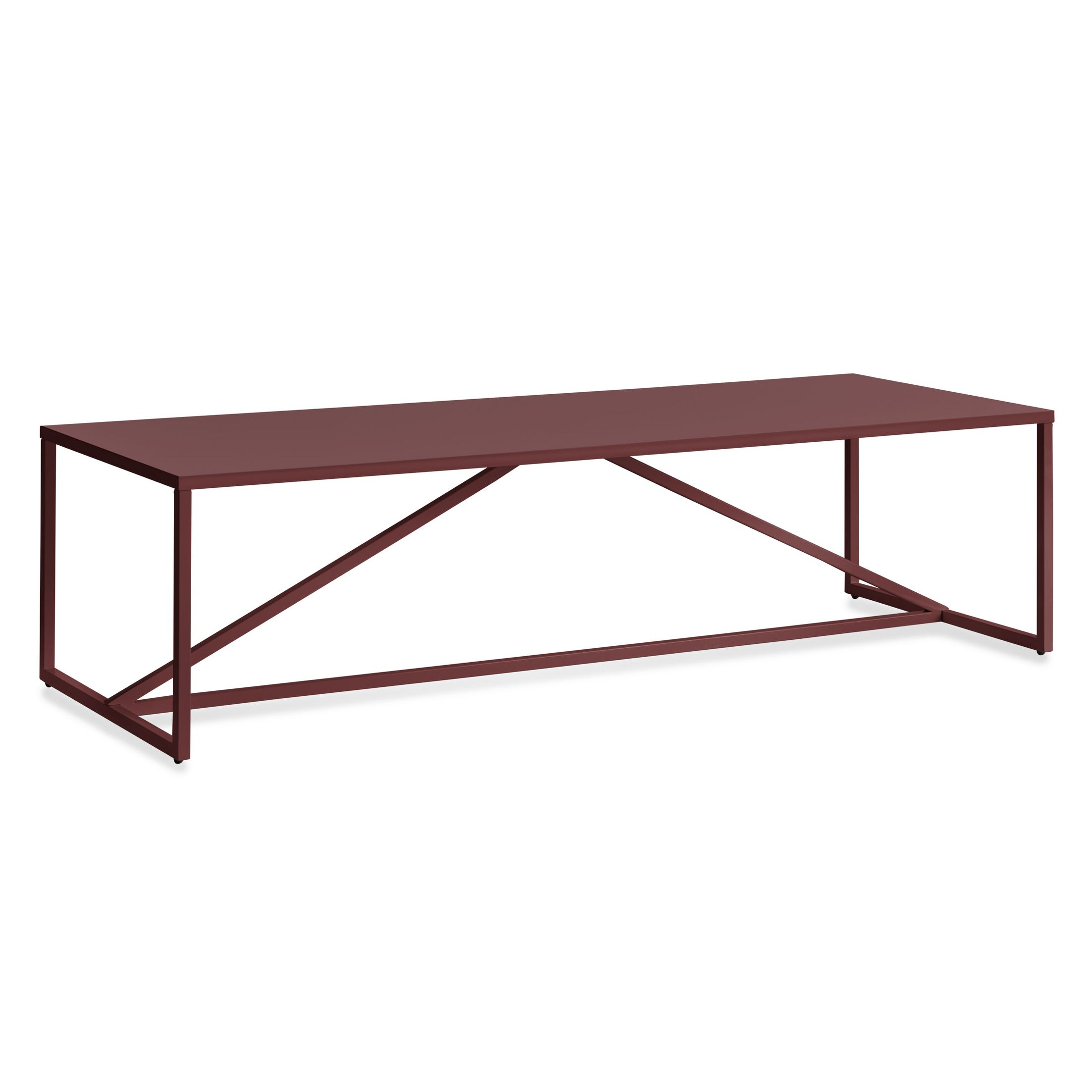 Strut Coffee Table Color: Oxblood