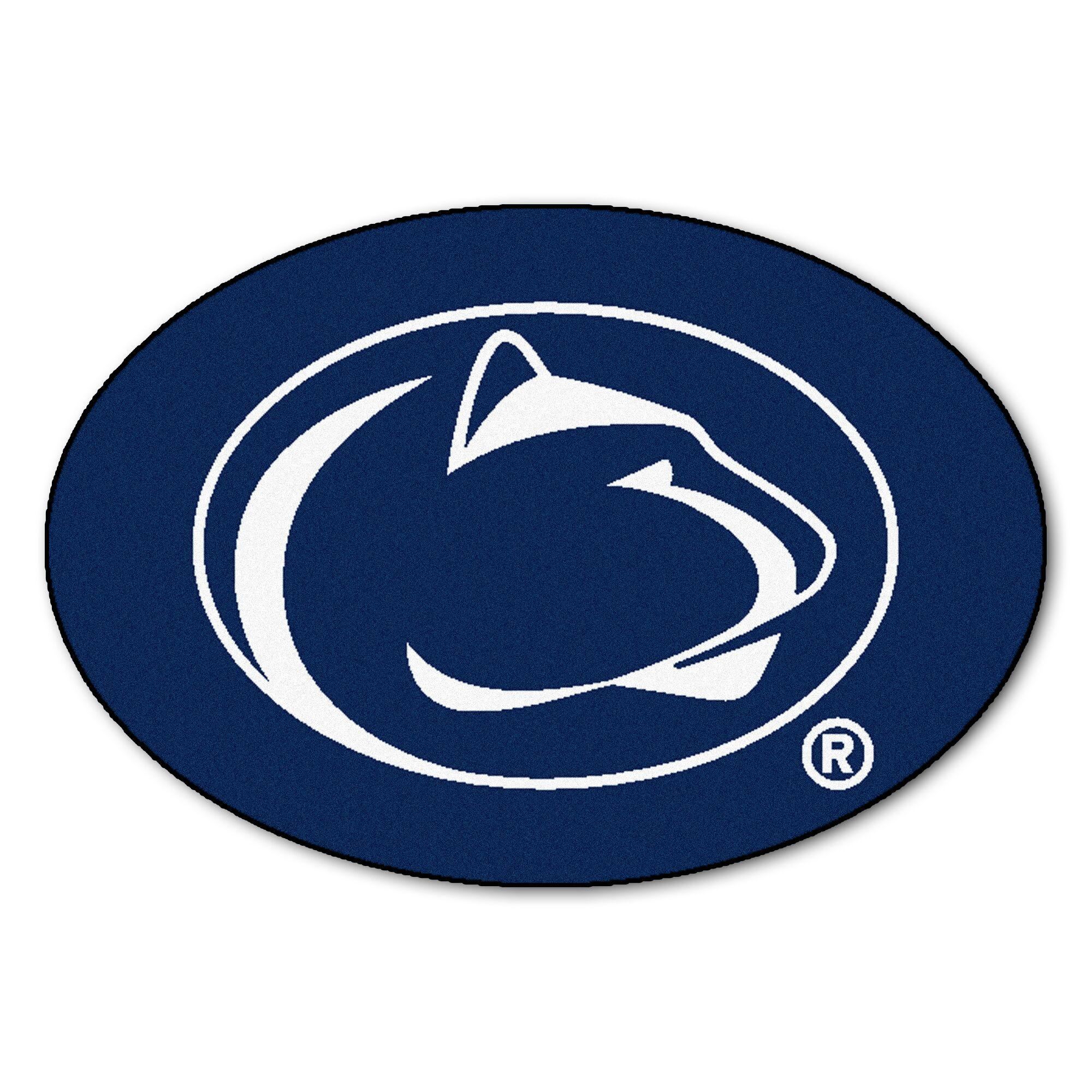 Collegiate Penn State Doormat Color: Blue, Mat Size: Oval 2'6