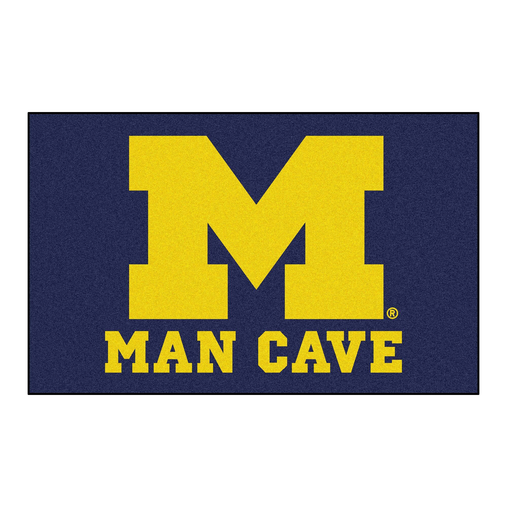 Collegiate NCAA University of Michigan Man Cave Doormat