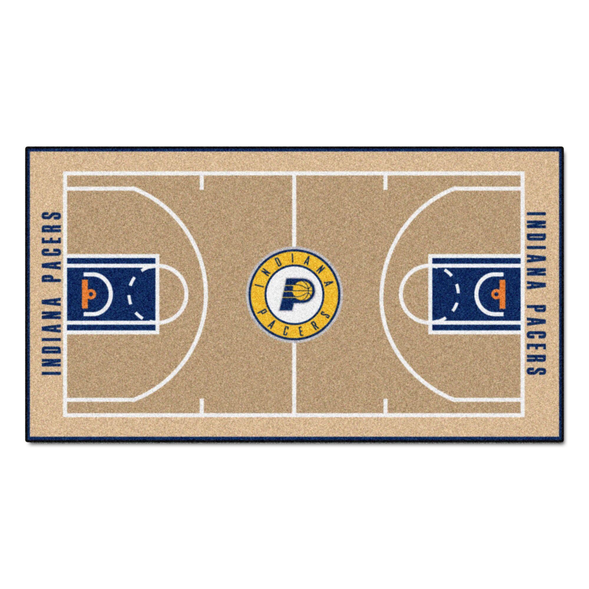 NBA - Indiana Pacers NBA Court Runner Doormat Mat Size: 2' x 3'8