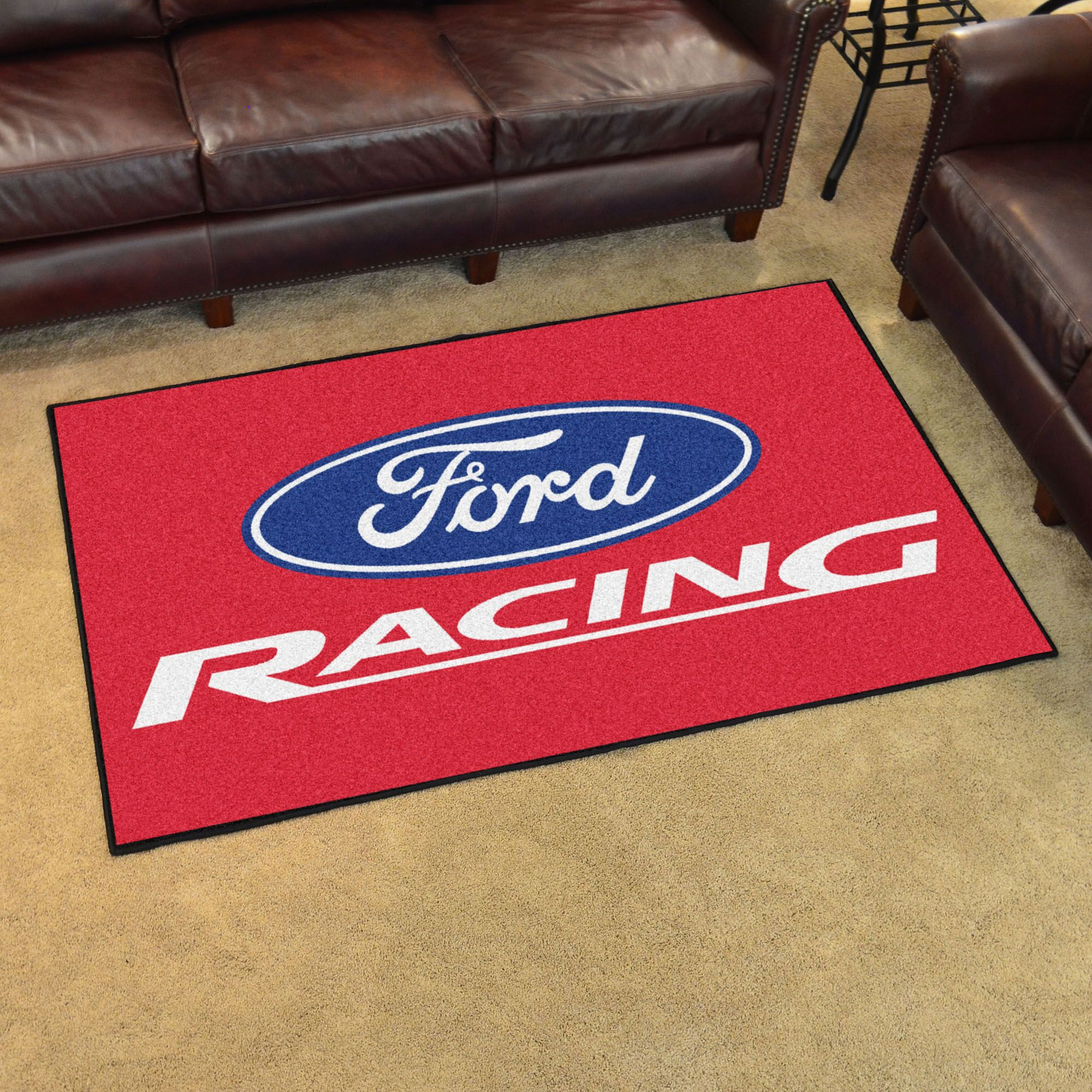 Ford - Ford Racing Tailgater Mat Rug Size: 4' x 6'