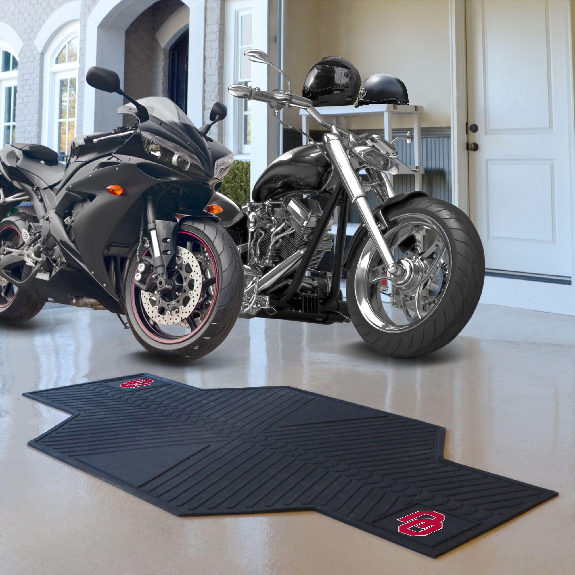 NCAA University of Oklahoma Motorcycle Motorcycle Utility Mat