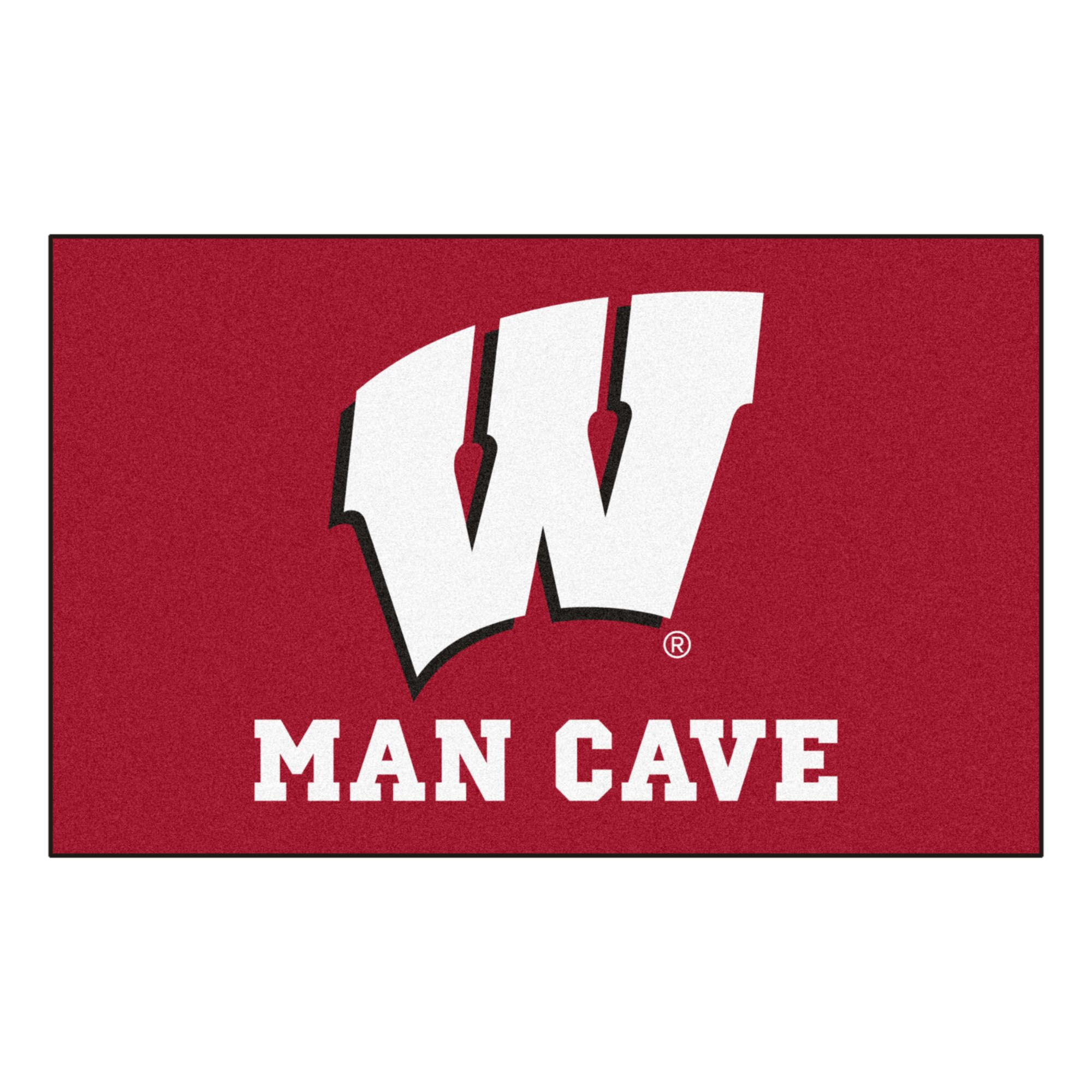 Collegiate NCAA University of Wisconsin Man Cave Doormat
