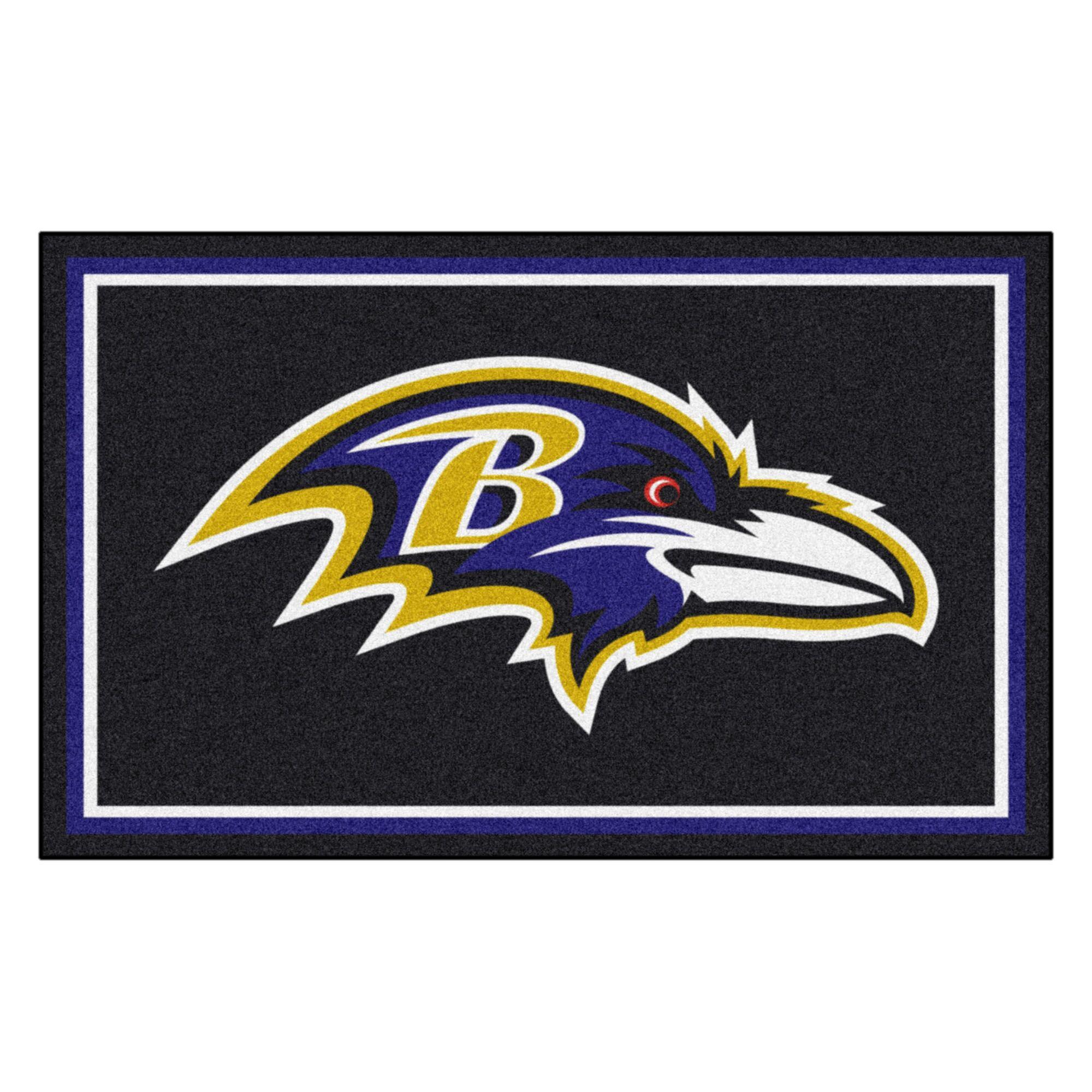 NFL - Baltimore Ravens 4x6 Rug Mat Size: 4' x 6'