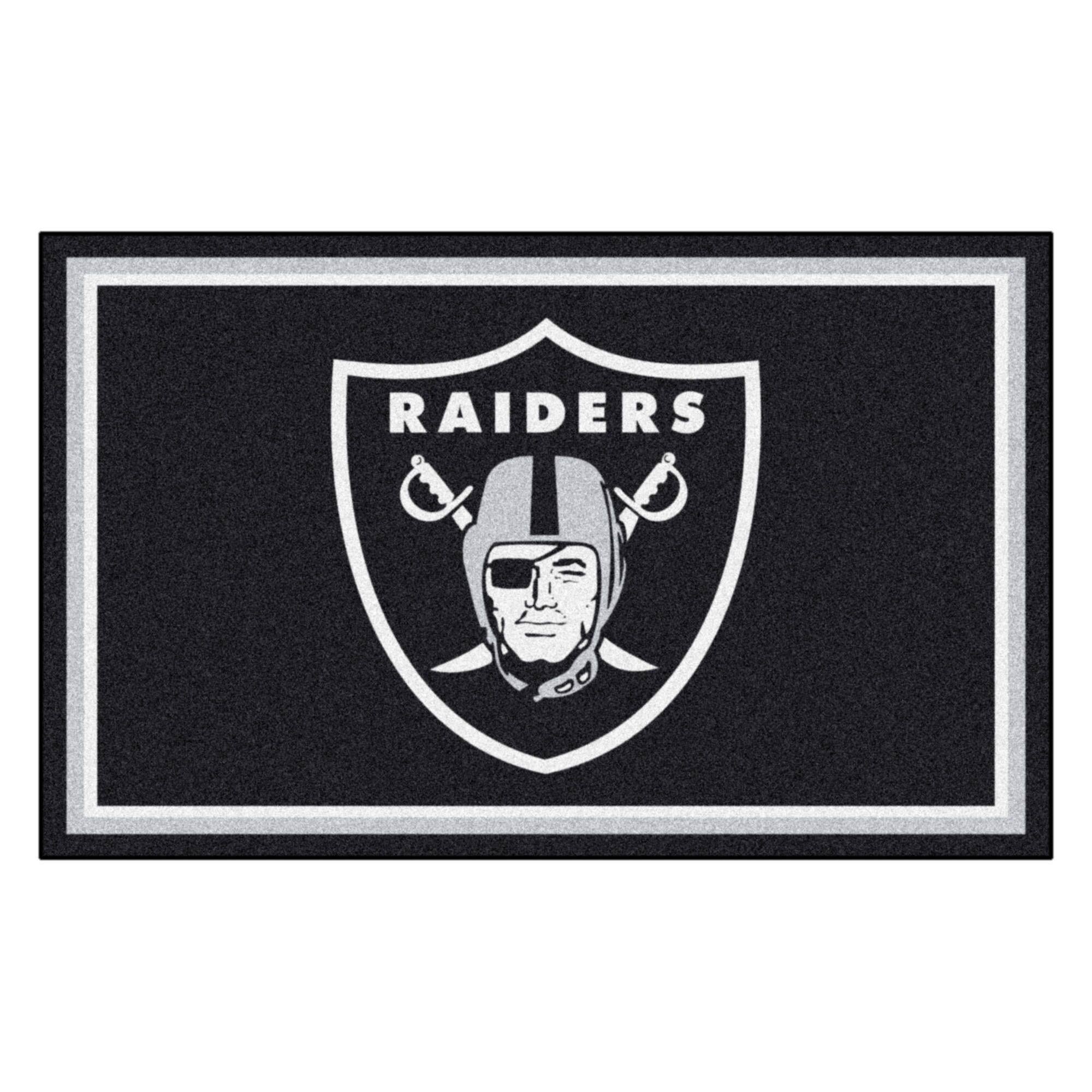 NFL - Oakland Raiders 4x6 Rug Mat Size: 4' x 6'
