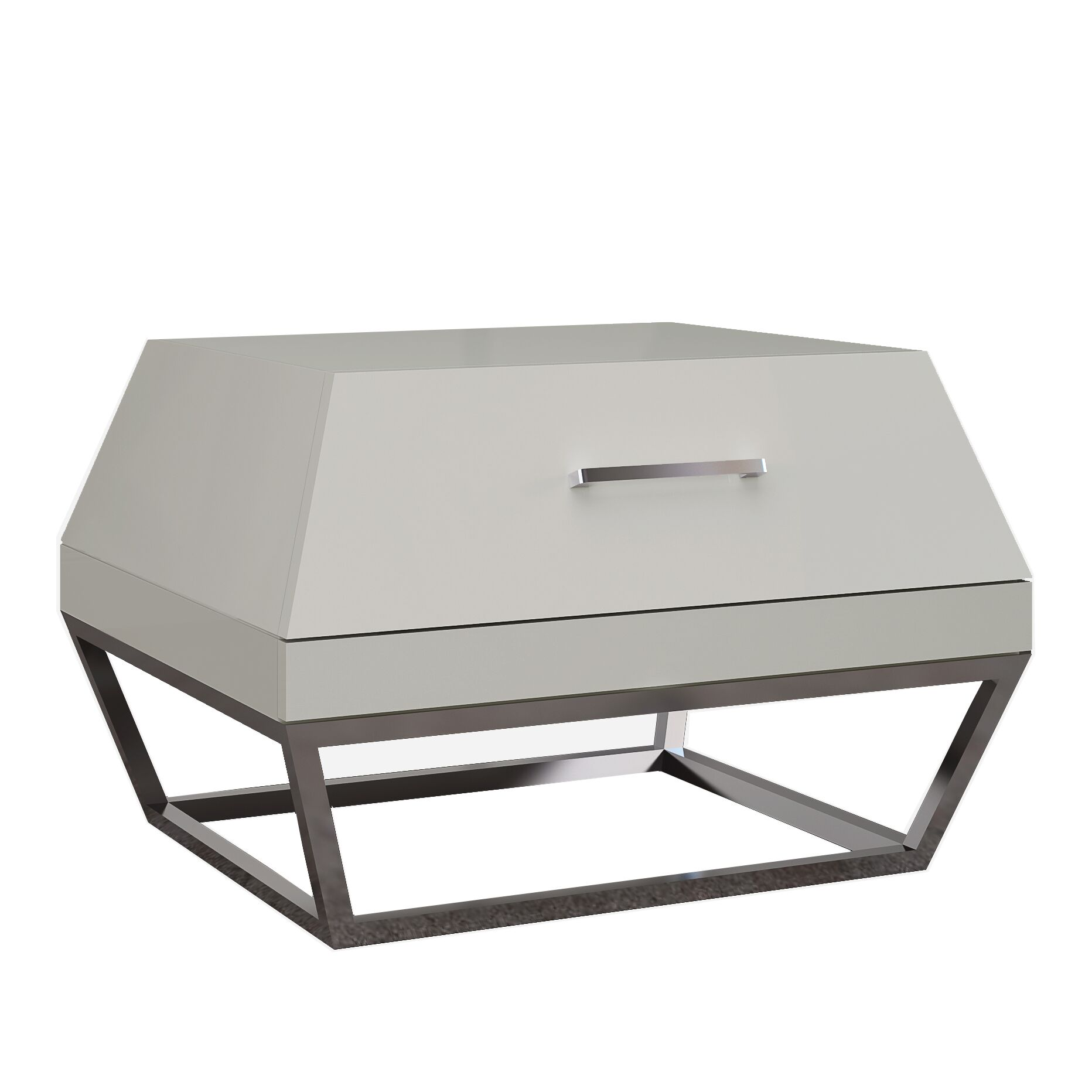 Angulatus 1 Drawer Nightstand Color: Taupe