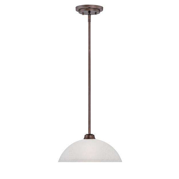 Franklin 1-Light Dome Pendant Finish: Rubbed Bronze
