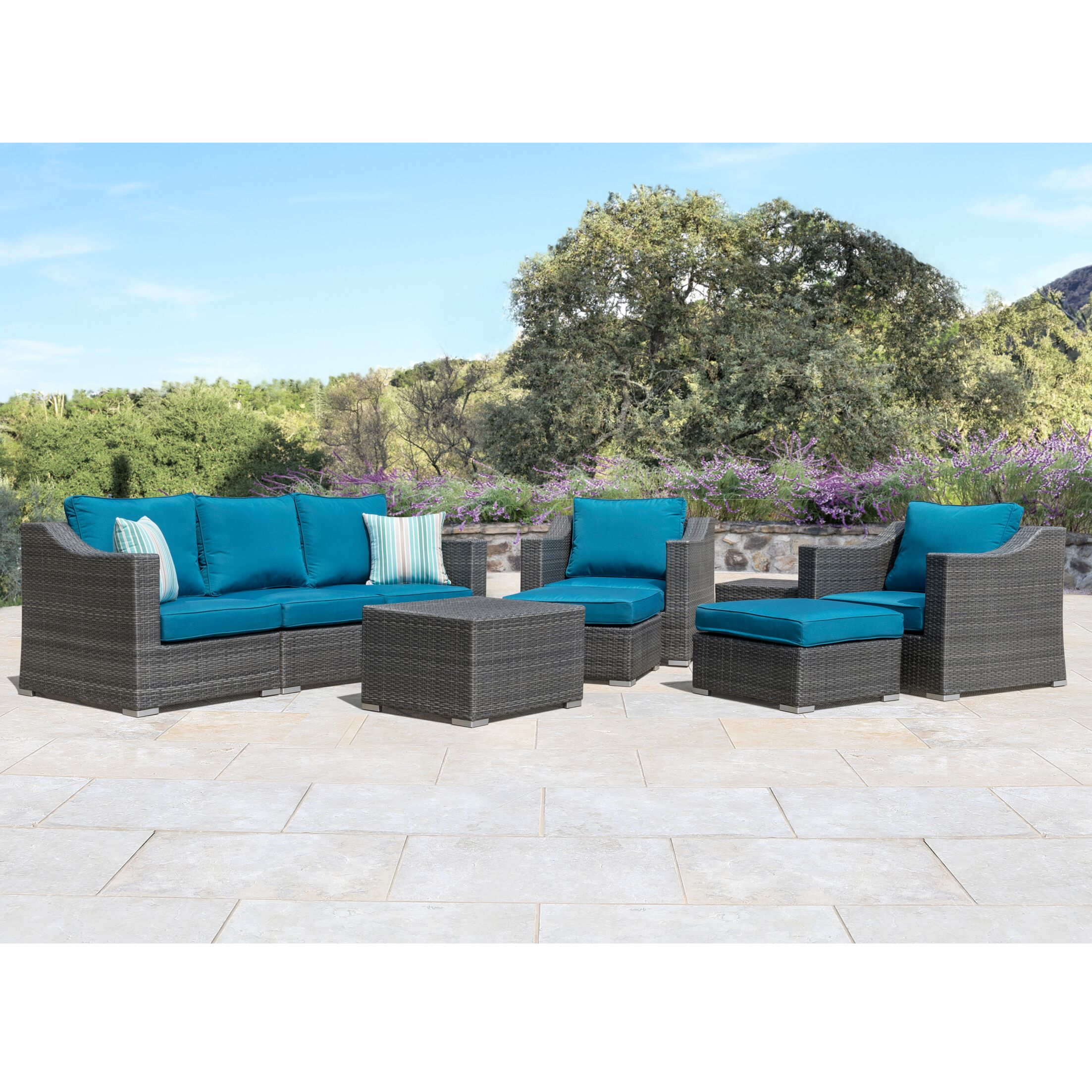 Castaneda 9 Piece Sectional Set with Cushions