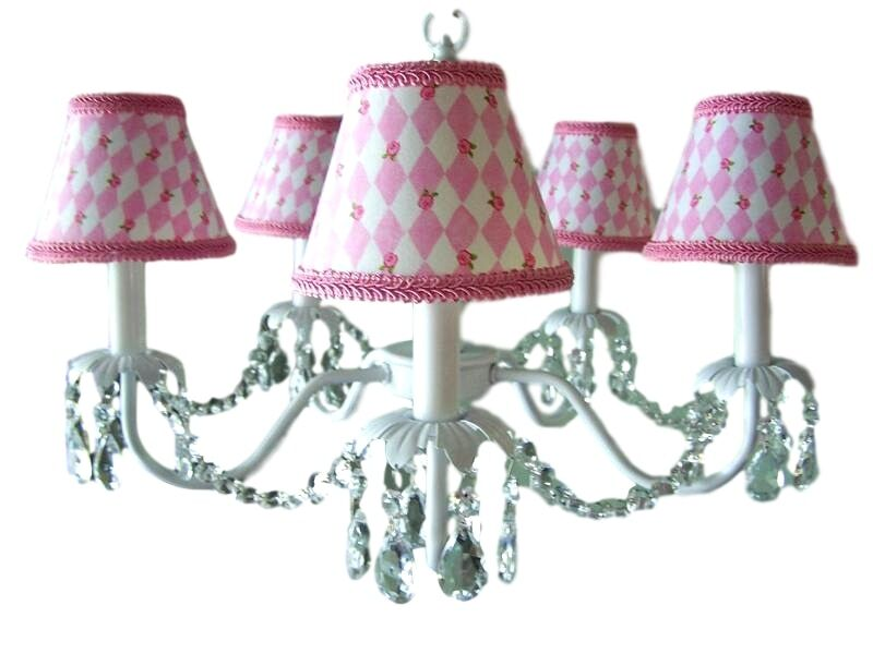 Camillah 5-Light Shaded Chandelier Shade: Pink Promises