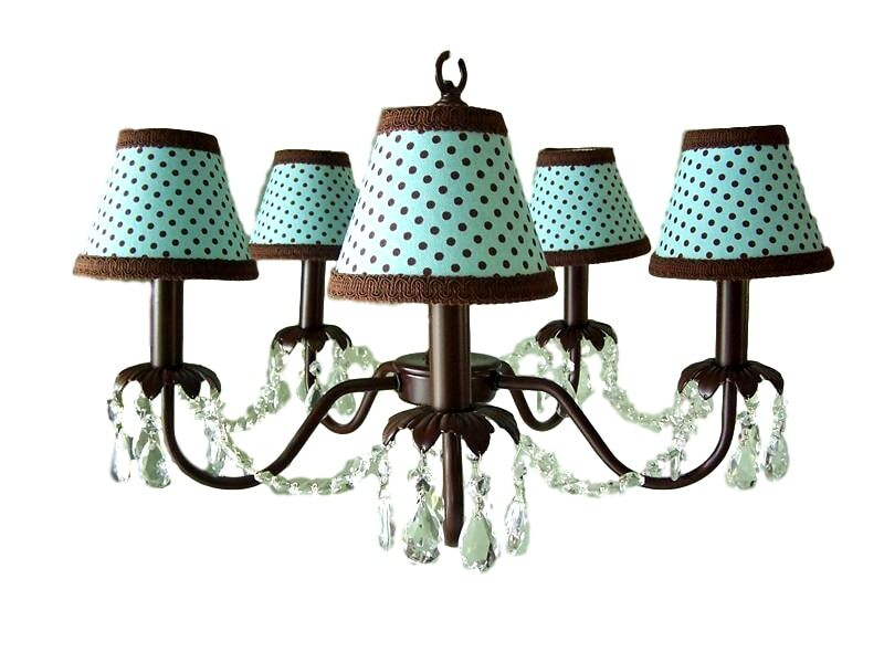 Camillah 5-Light Shaded Chandelier Shade: Chocolate Sprinkles