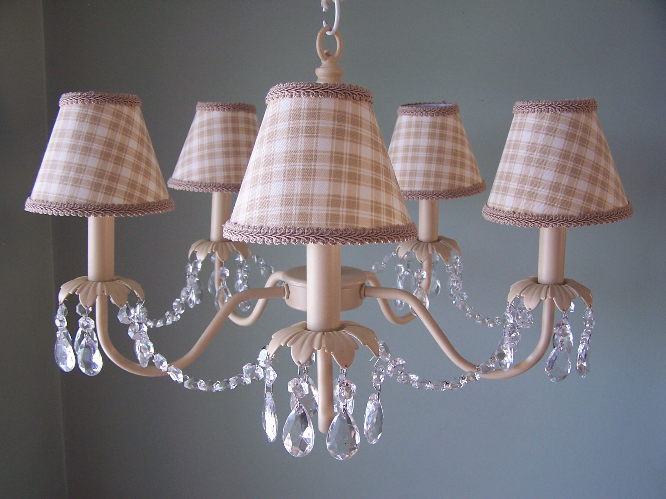 Camillah 5-Light Shaded Chandelier Shade: Beach Shack Plaid