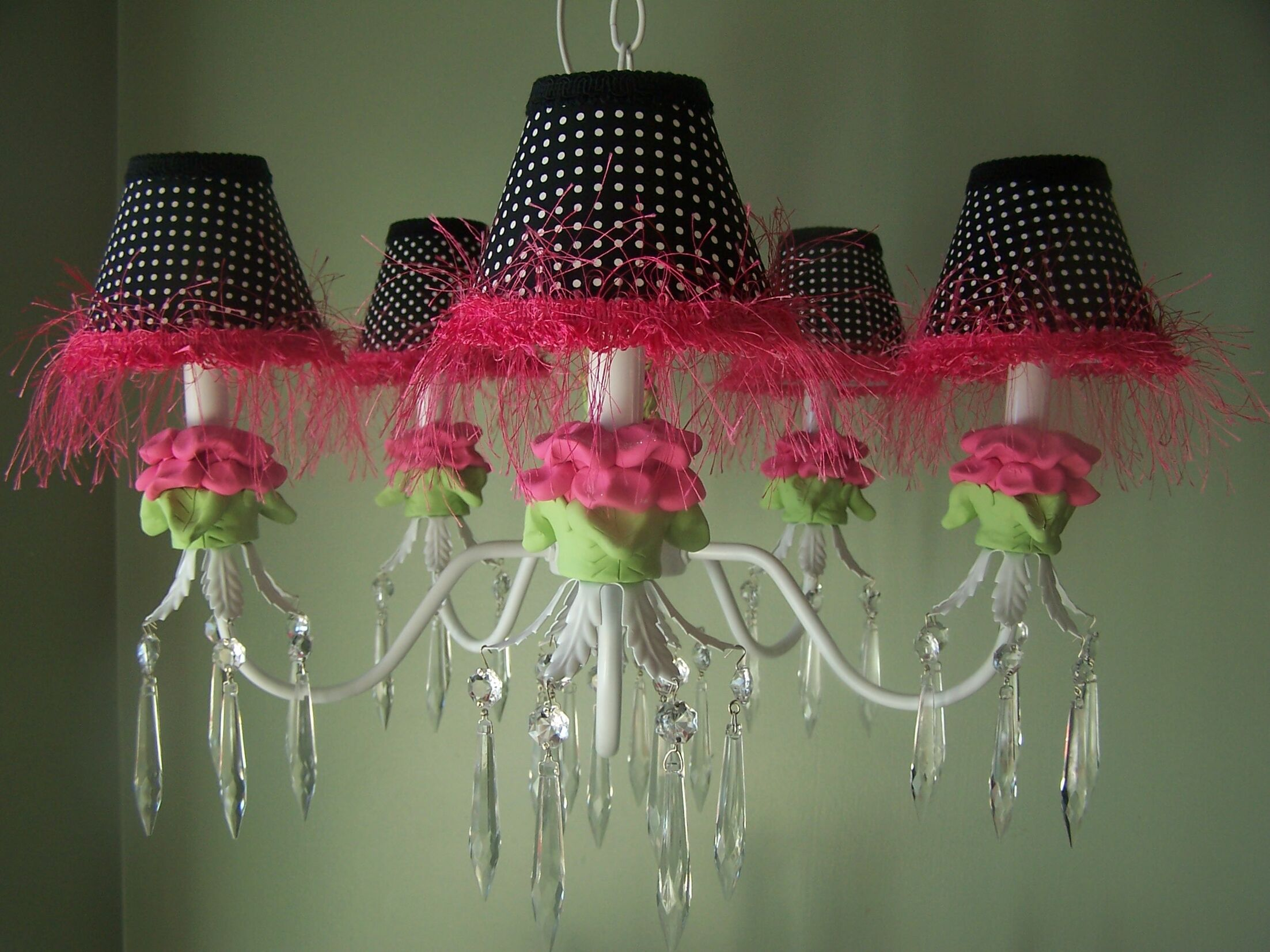 Hot Flower 5-Light Shaded Chandelier Shade: Playful Petals