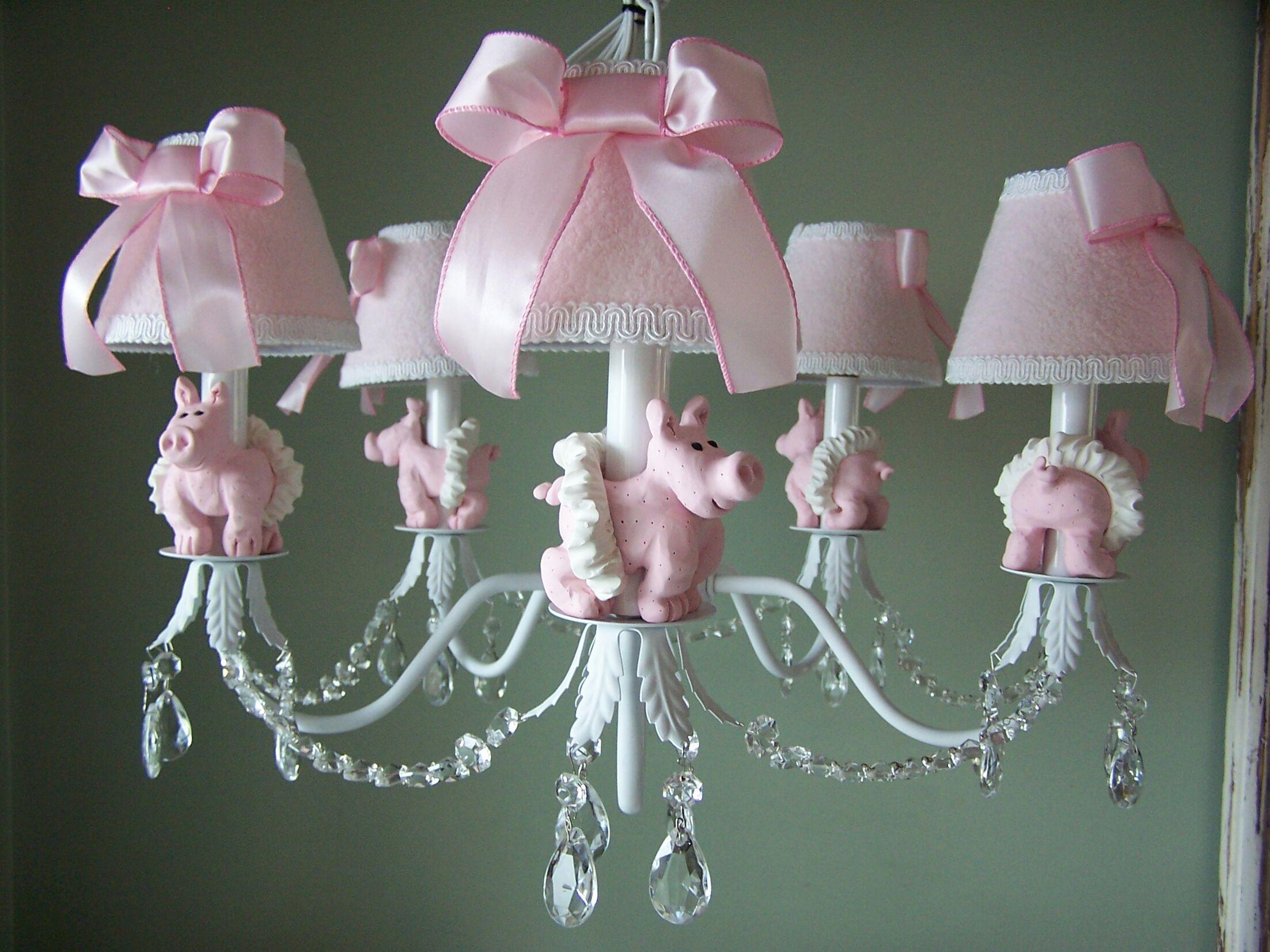 Piggy Princess 5-Light Shaded Chandelier Shade: Ballet Slipper