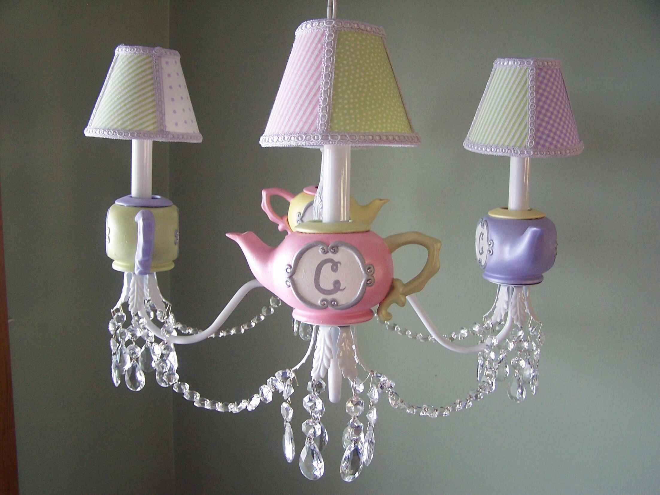 Millie's Teaparty 4-Light Shaded Chandelier Shade: Touch Of Elegance