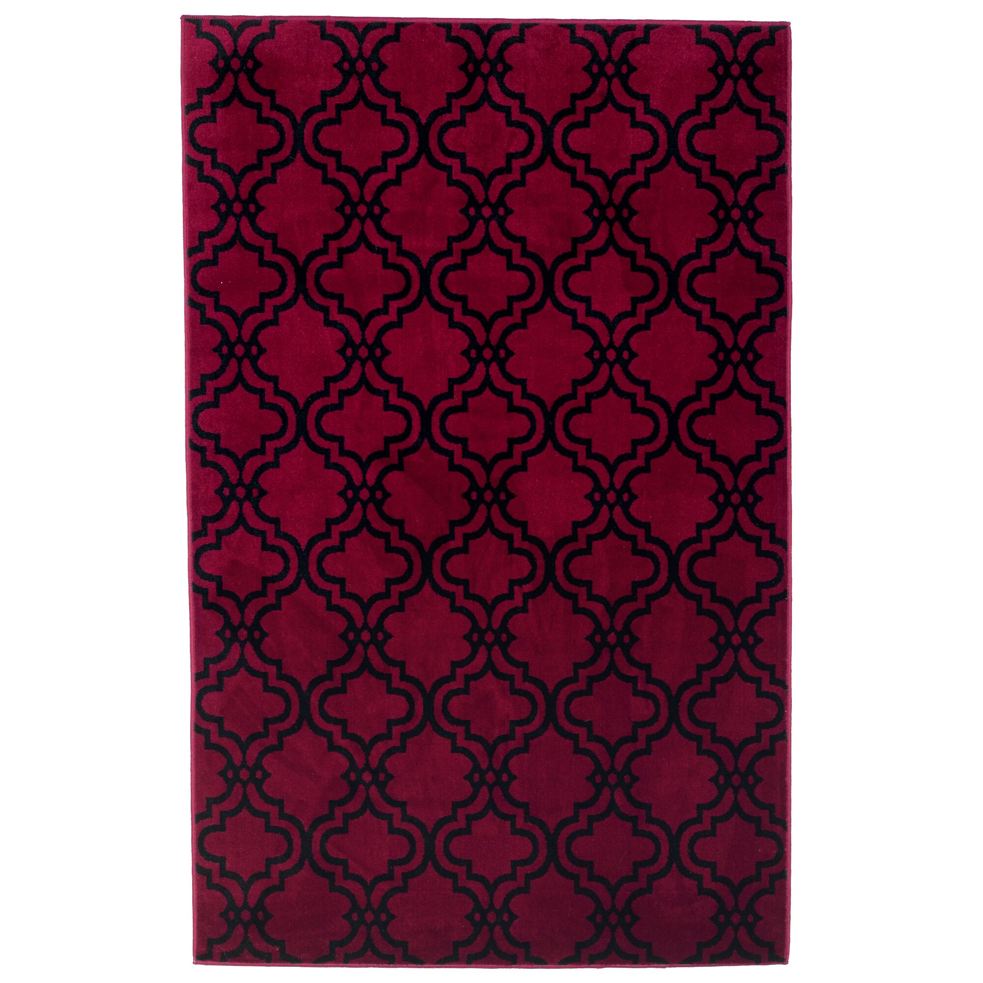 Double Lattice Red Area Rug Rug Size: Rectangle 8' x 10'