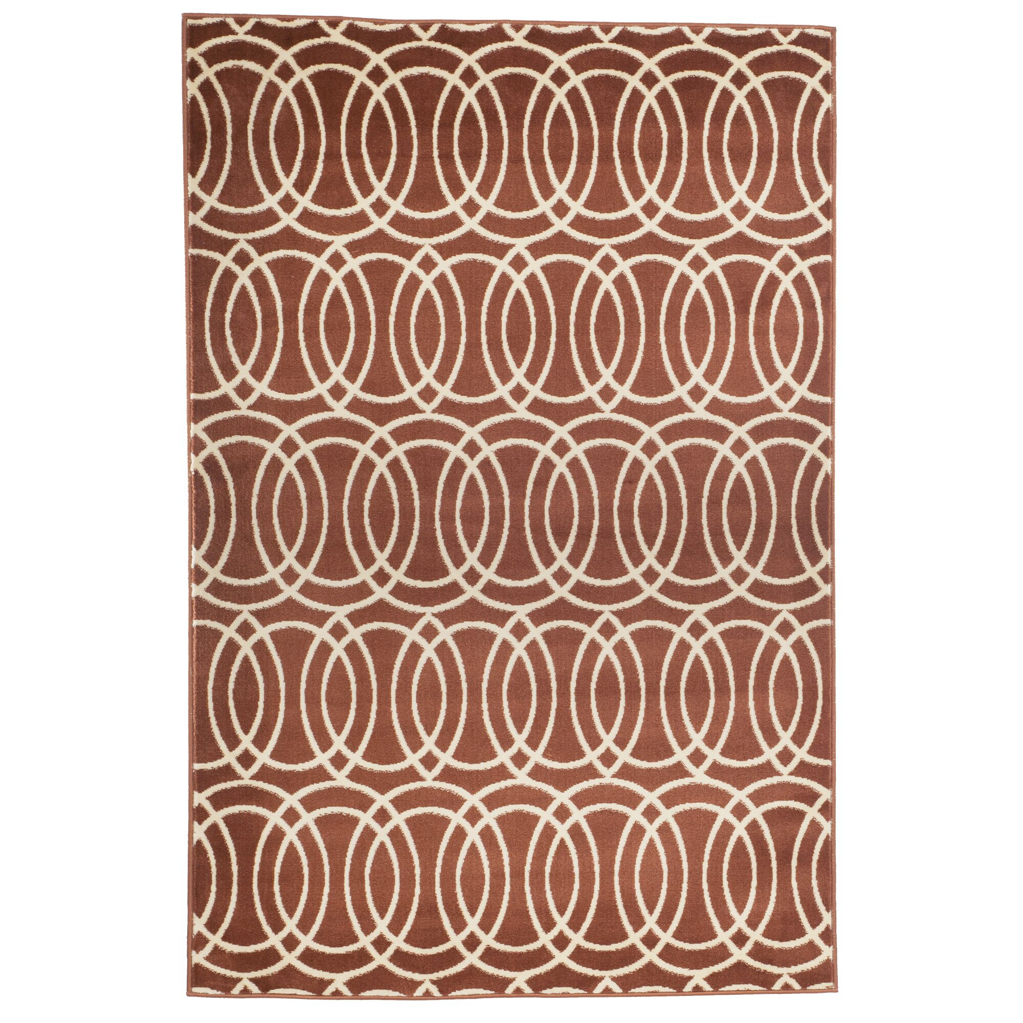 Geometric Brick and Gold Area Rug Rug Size: Rectangle 5' x 7'7