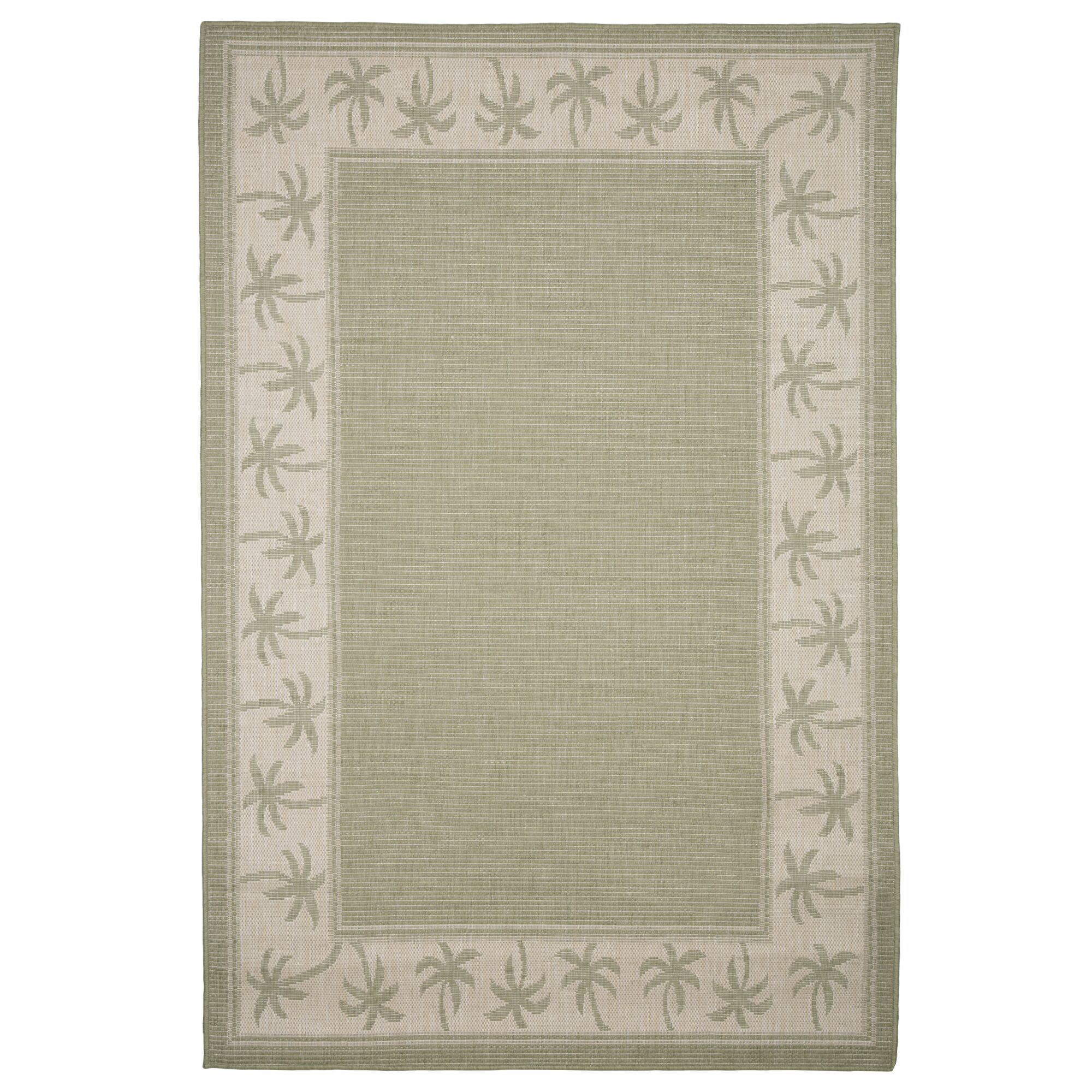 Green/Beige Indoor/Outdoor Area Rug Rug Size: Rectangle 8' x 10'