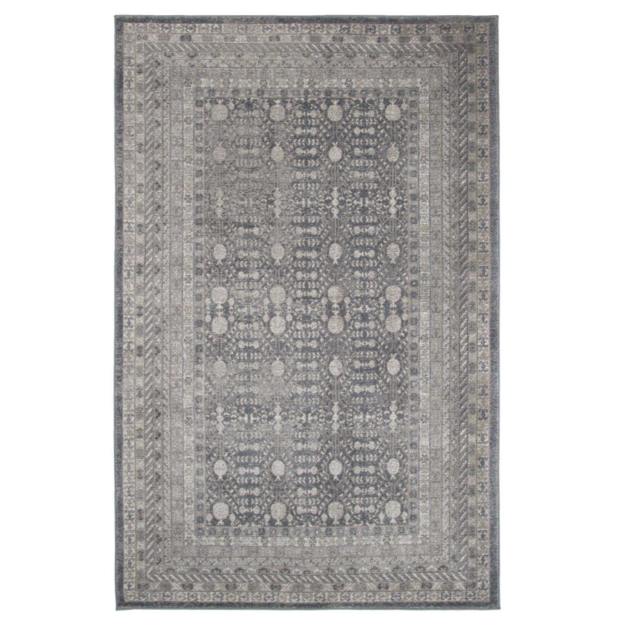 Maya Handmade Dark Gray Area Rug