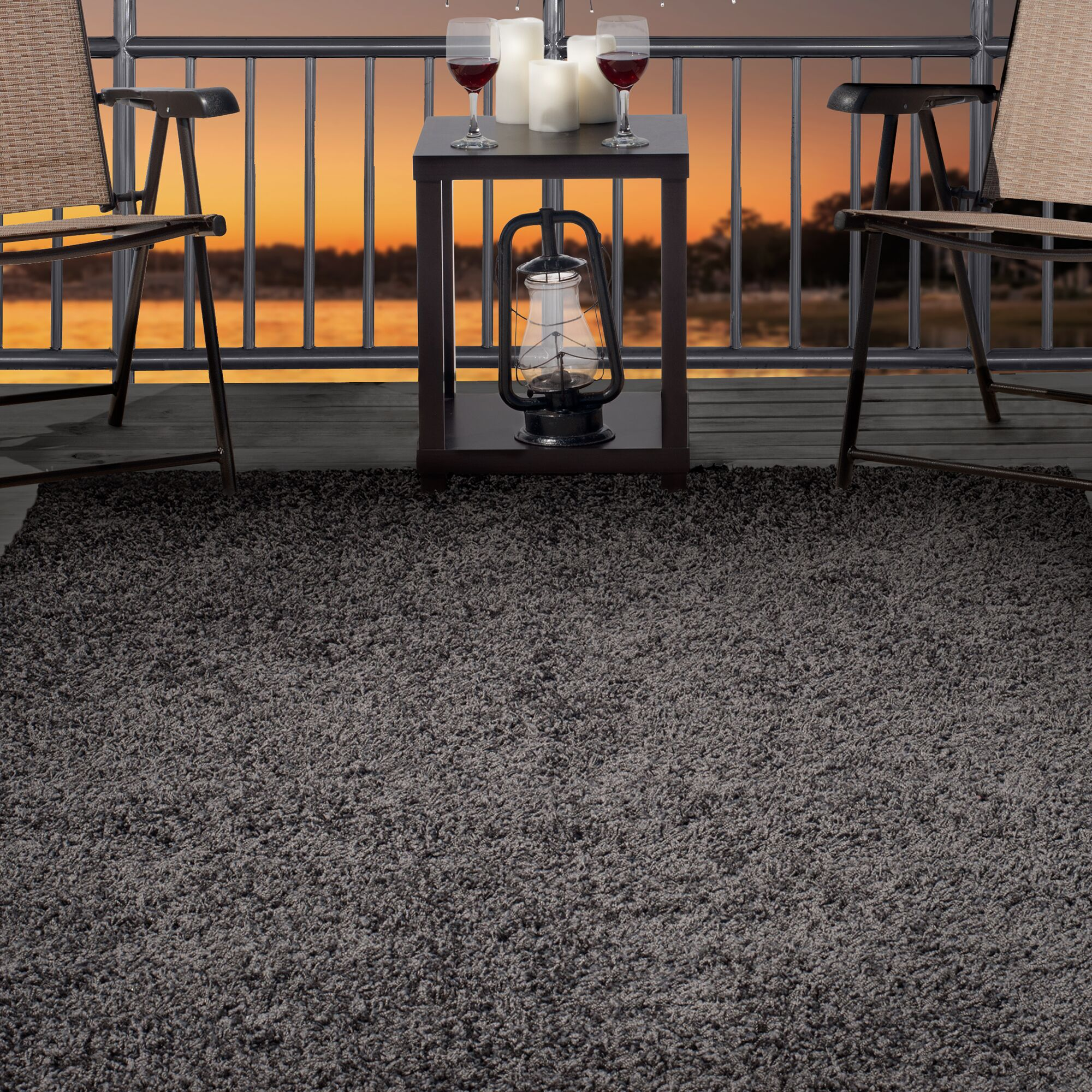 Charcoal Indoor/Outdoor Area Rug Rug Size: Rectangle 8' x 10'