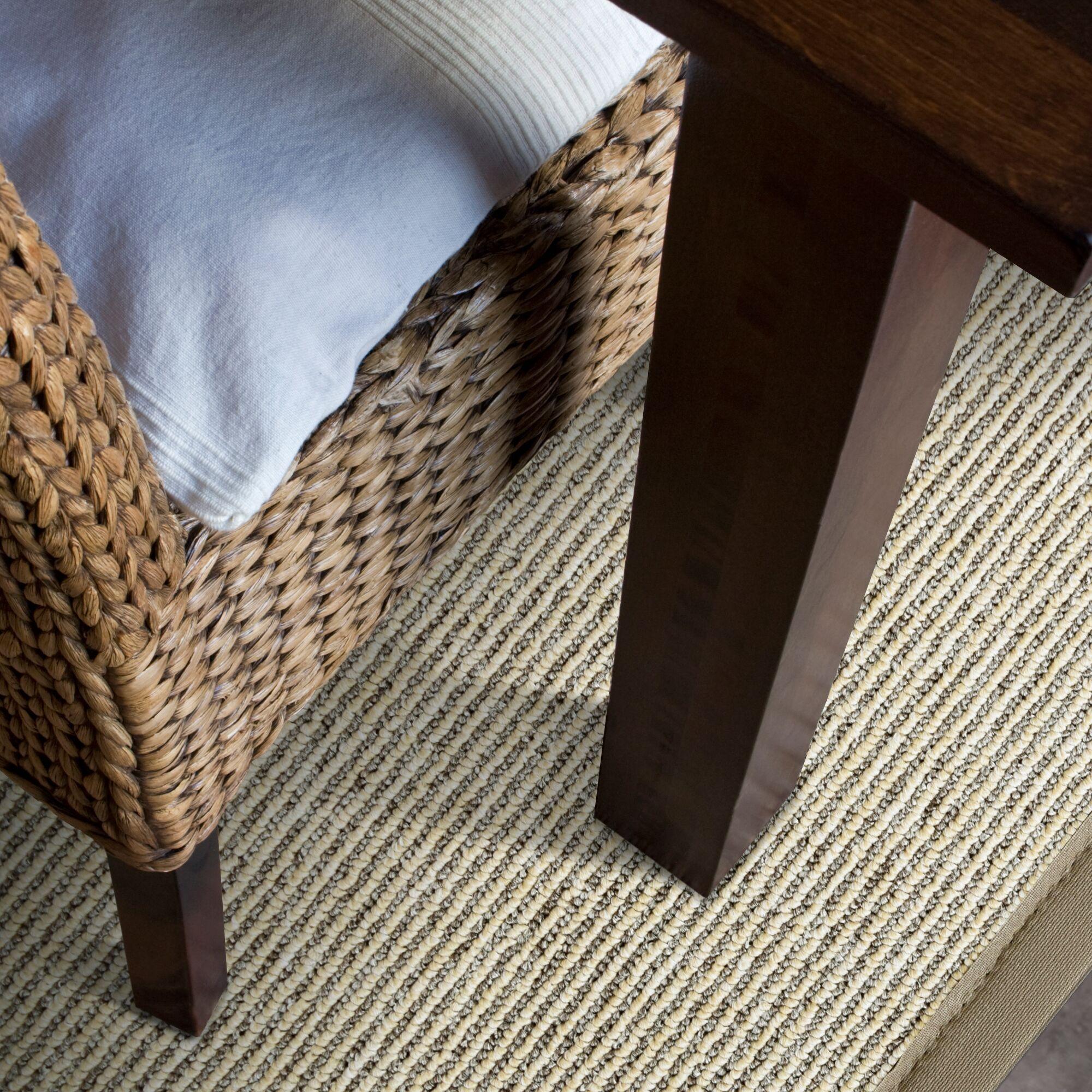 Marica Synthetic Sisal Beige Area Rug Rug Size: Runner 2' x 8'