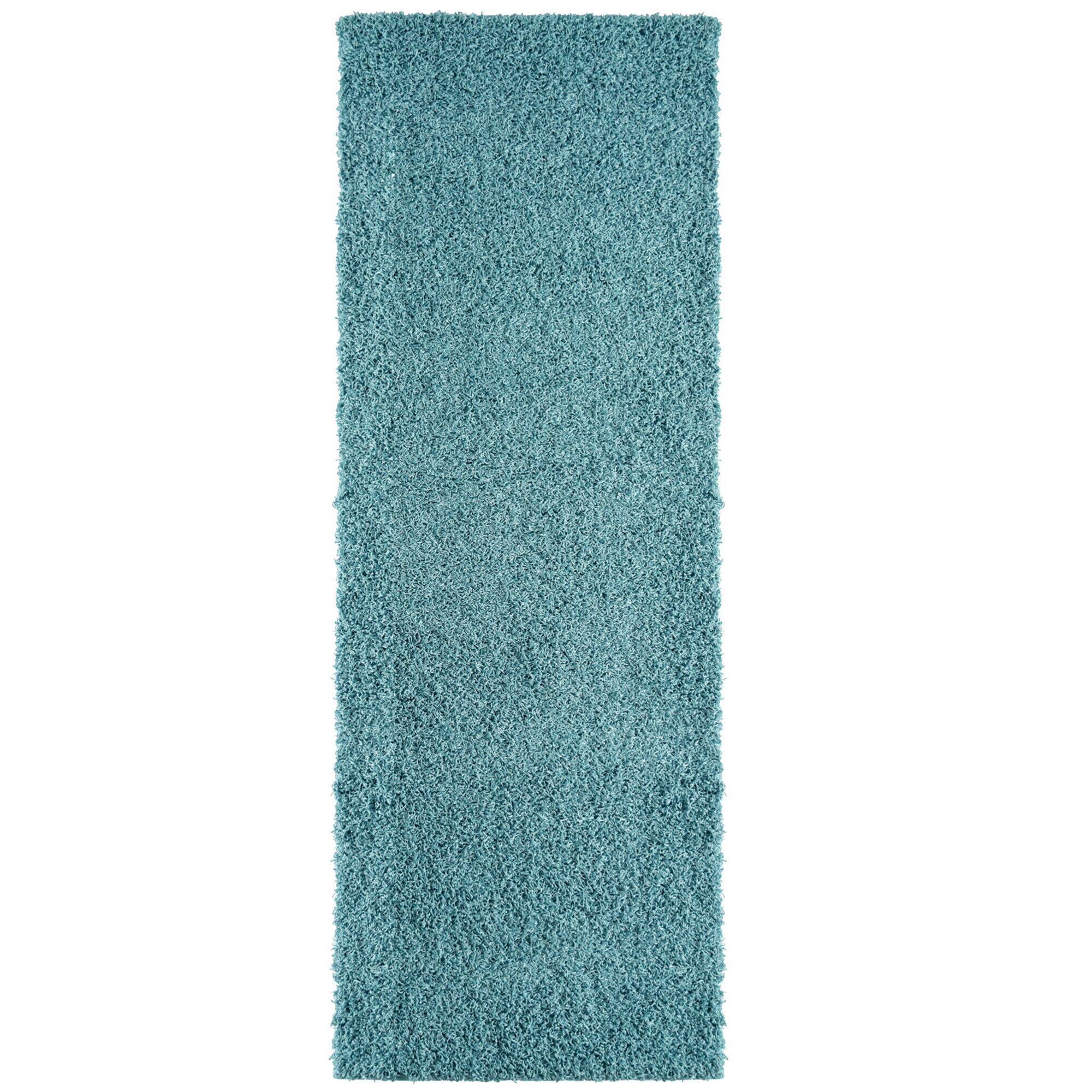 Modern Shag Polyester Aqua Blue Indoor Area Rug Rug Size: 5' x 7'