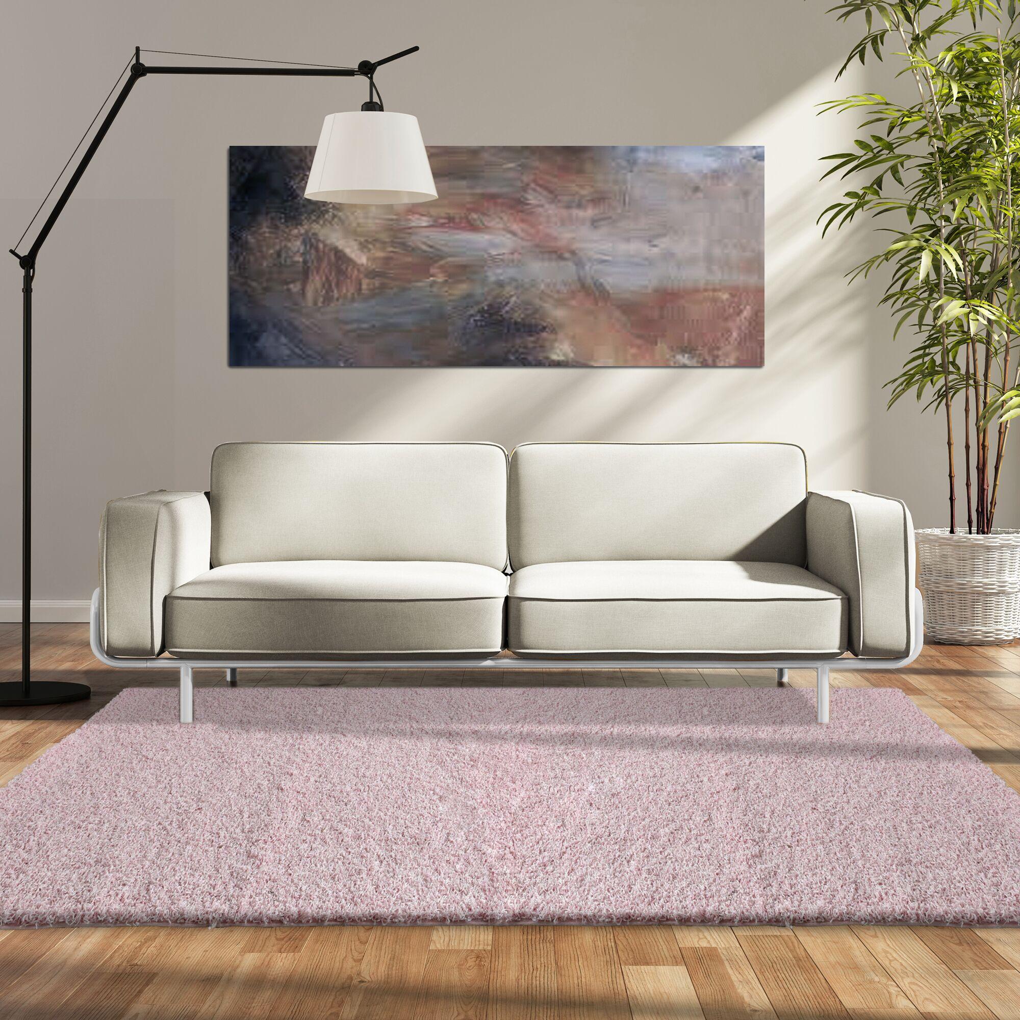 Modern Blush Shag Pink Area Rug Rug Size: 8' x 10'