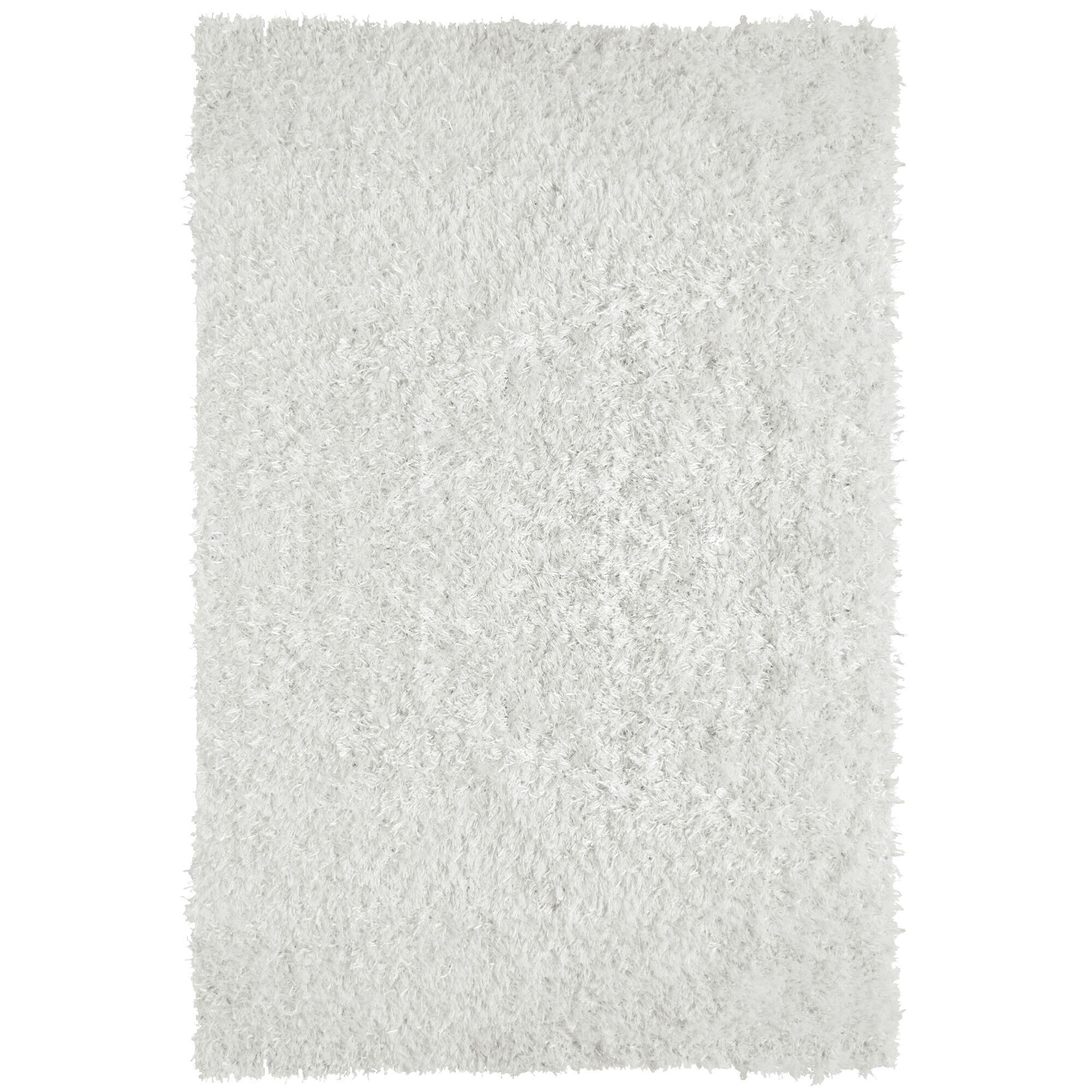 City Shag White Area Rug Rug Size: 8' x 10'