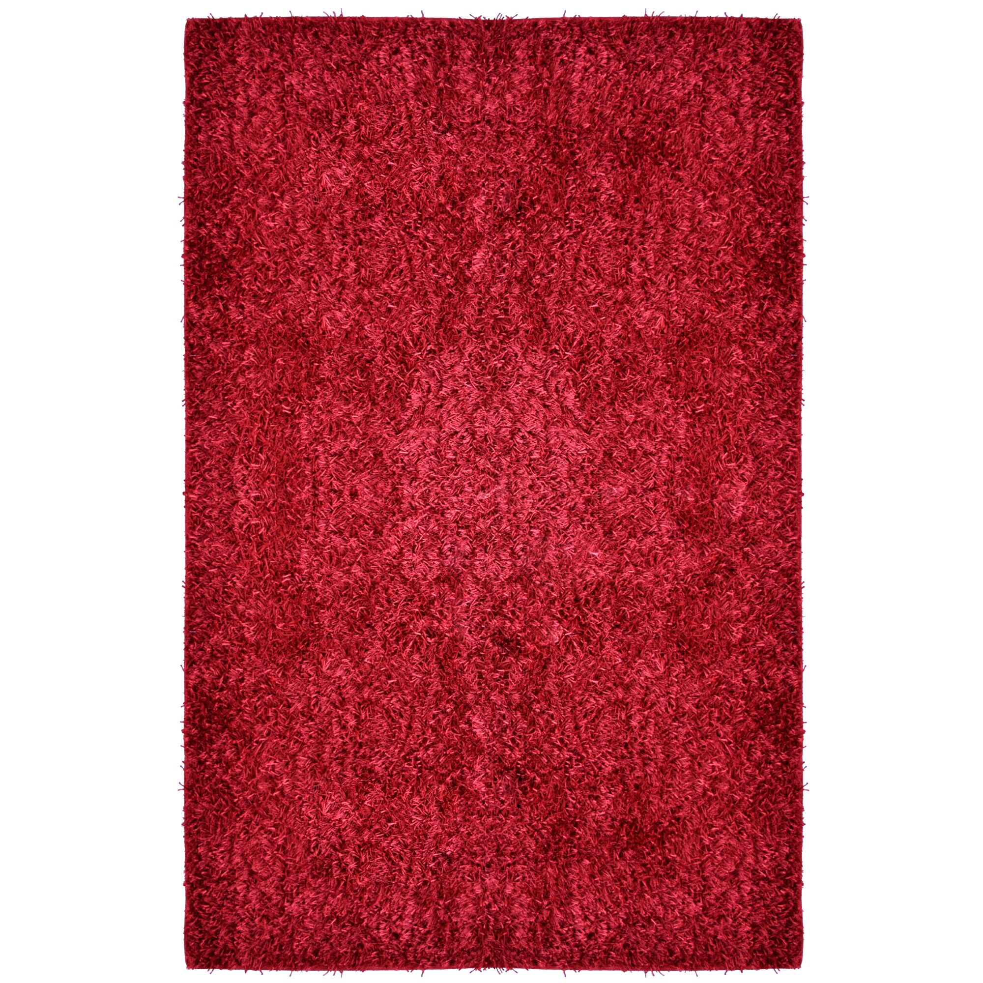 City Shag Red Area Rug Rug Size: 5' x 7'6