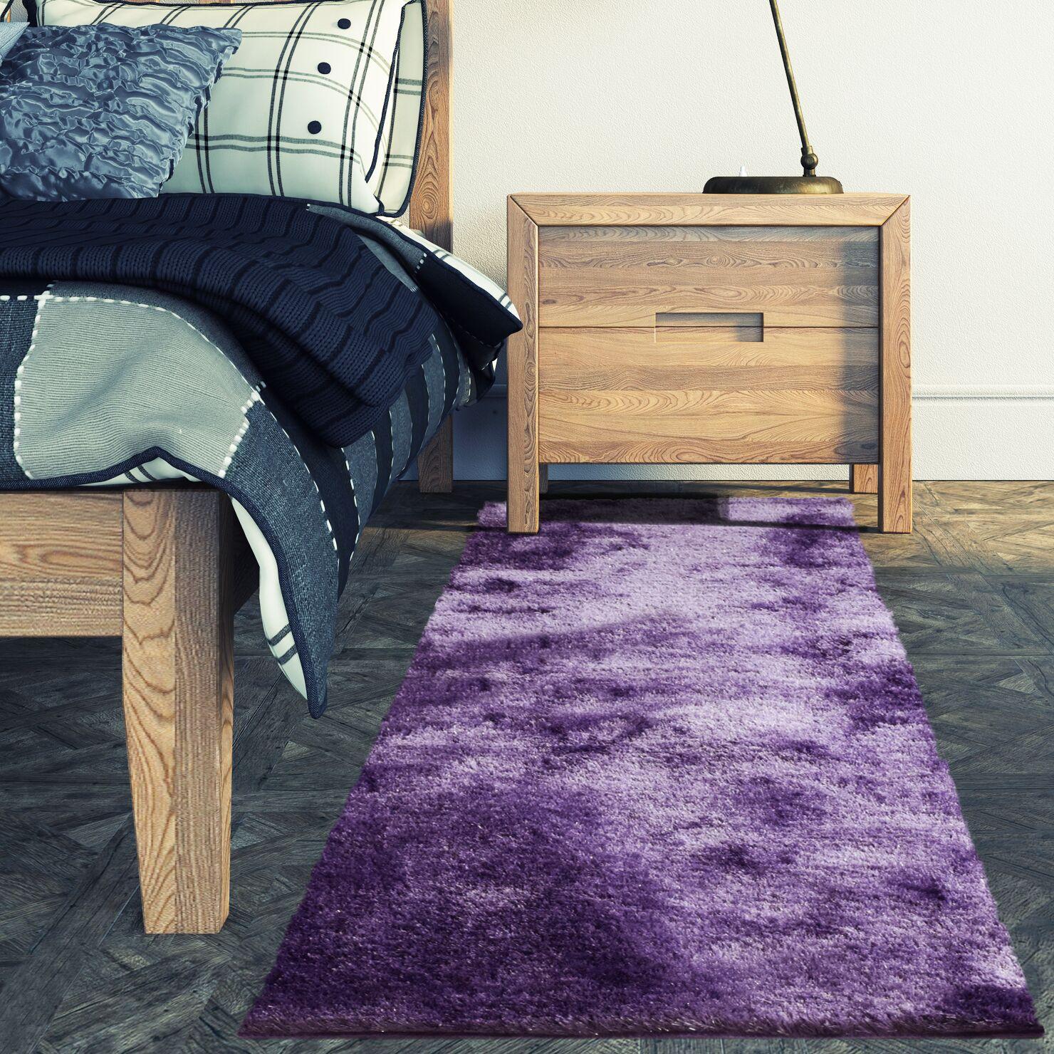 Metro Silk Lilac Area Rug Rug Size: 9' x 12'