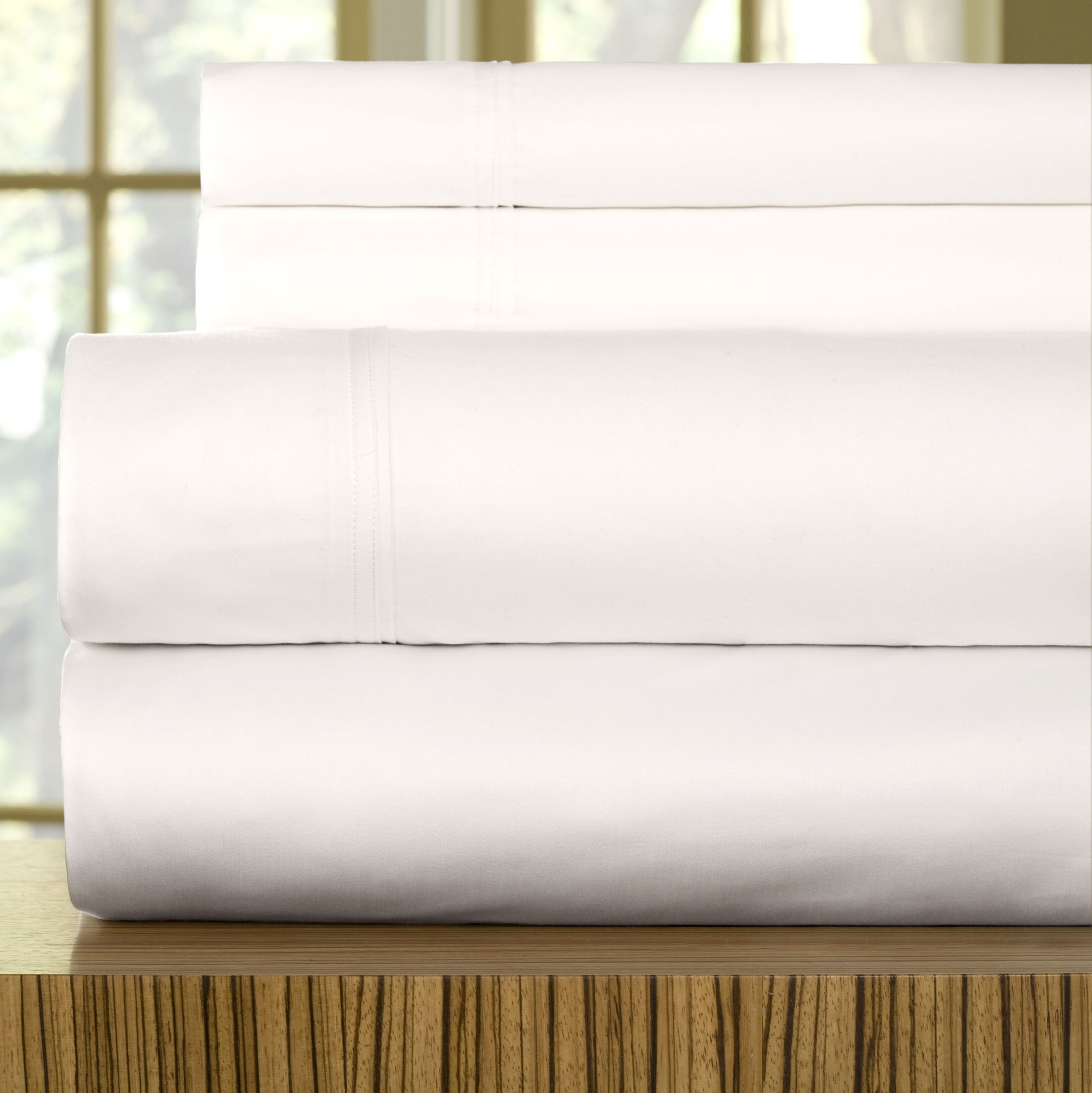 510 Thread Count Egyptian Quality Cotton Sheet Set Size: Queen, Color: White