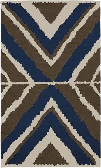 Alameda Hand woven Blue/Ivory Area Rug Rug Size: Rectangle 8' x 11'