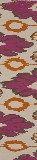 Alameda Hand woven Pink/Tan Area Rug Rug Size: Runner 2'6