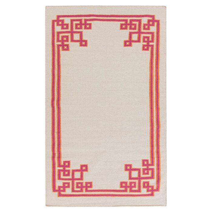 Alameda Ivory Area Rug Rug Size: Rectangle 2' x 3'