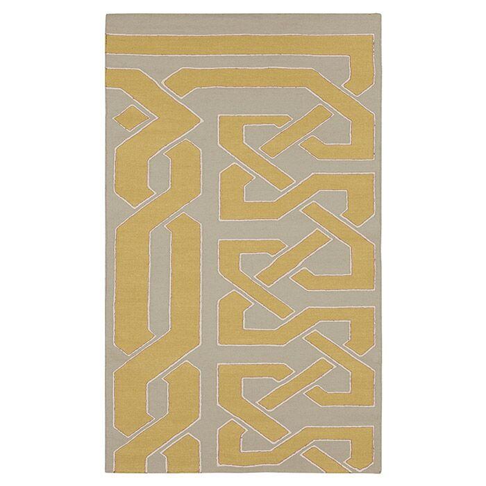 Alameda Hand woven Gray/Dark Yellow Area Rug Rug Size: Rectangle 2' x 3'