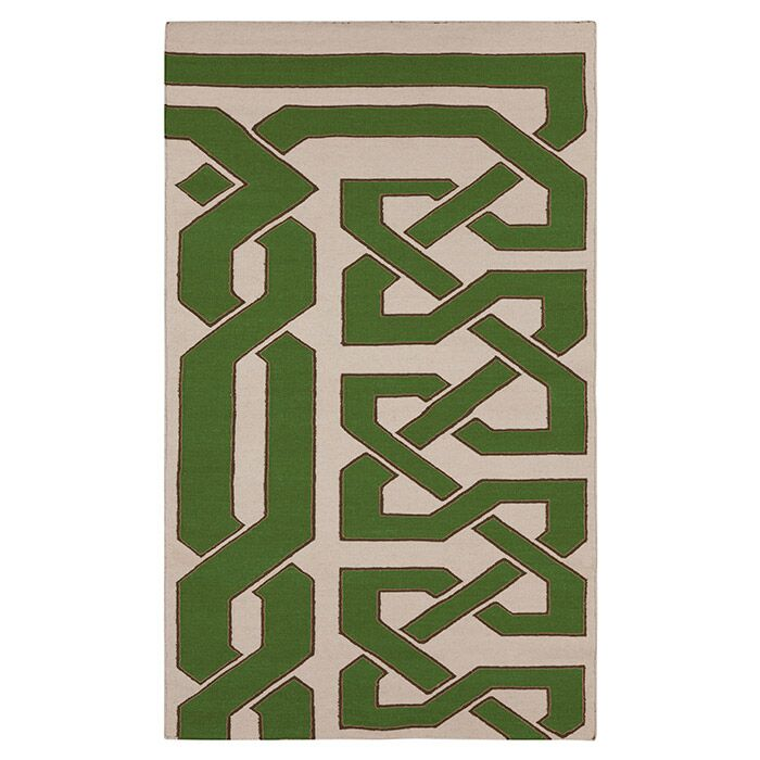 Alameda Green & Ivory Area Rug Rug Size: Rectangle 8' x 11'